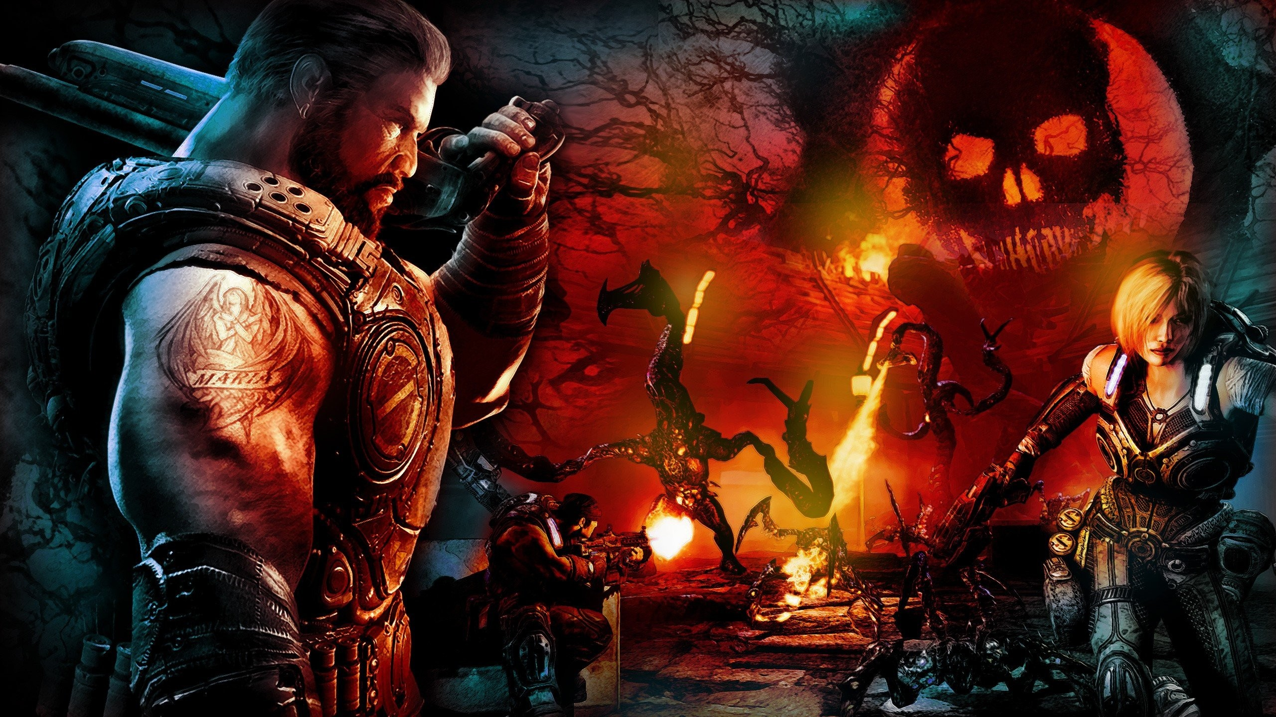 2560x1440 Gears Of War 3 HD Wallpaper HD 10 - 2560 X 1440