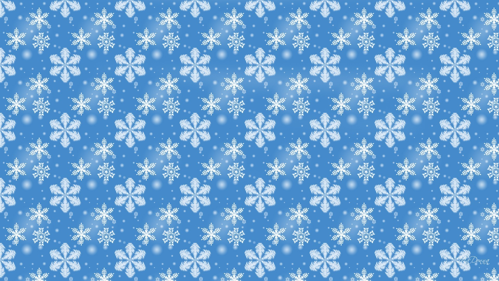 1920x1080 Blue Winter Snow Christmas Snowflakes Simple Frosty Wallpaper Backgrounds -
