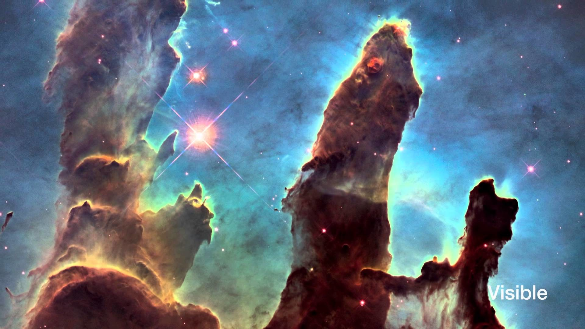 1920x1080 Hubblecast 82: New view of the Pillars of Creation
