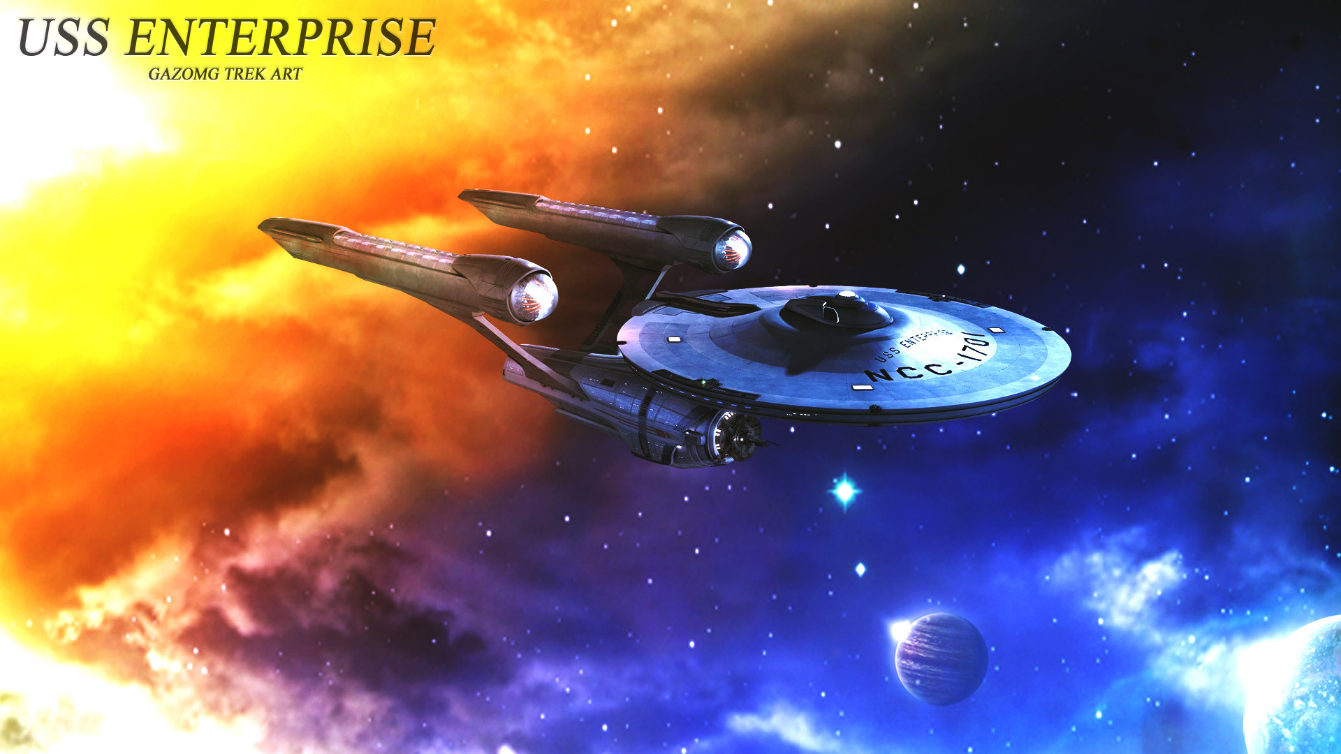 1920x1080 ... USS Enterprise Alternate Star Trek Wallpaper by gazomg