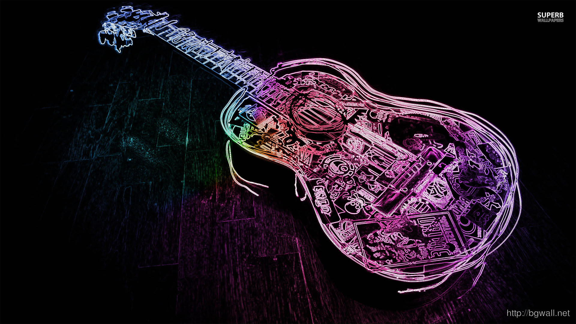 Neon Music Notes Wallpaper: Fender Guitar Wallpaper (59+ Images