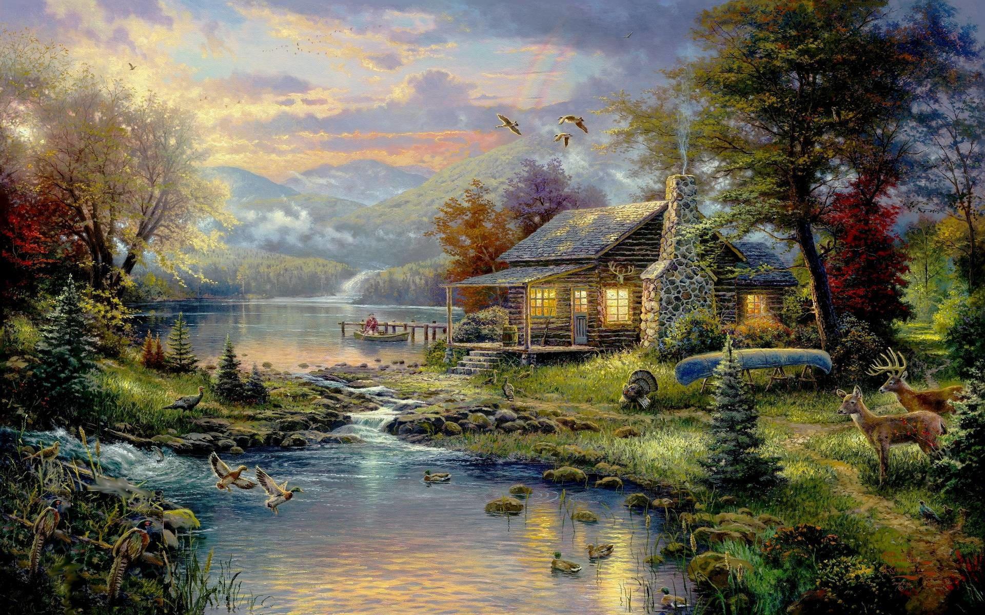 1920x1200 Thomas Kinkade Wallpaper | HD Wallpapers Pictures