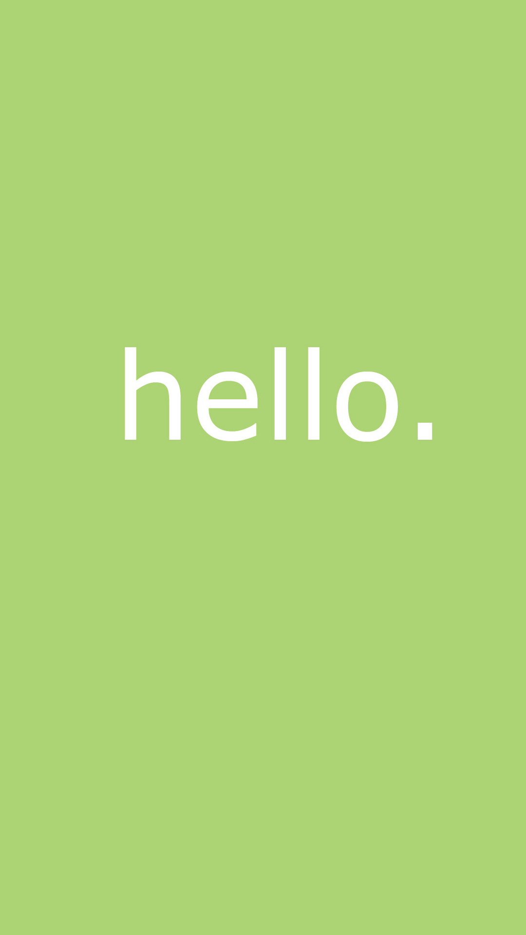 1080x1920 cute simple hello message android wallpaper