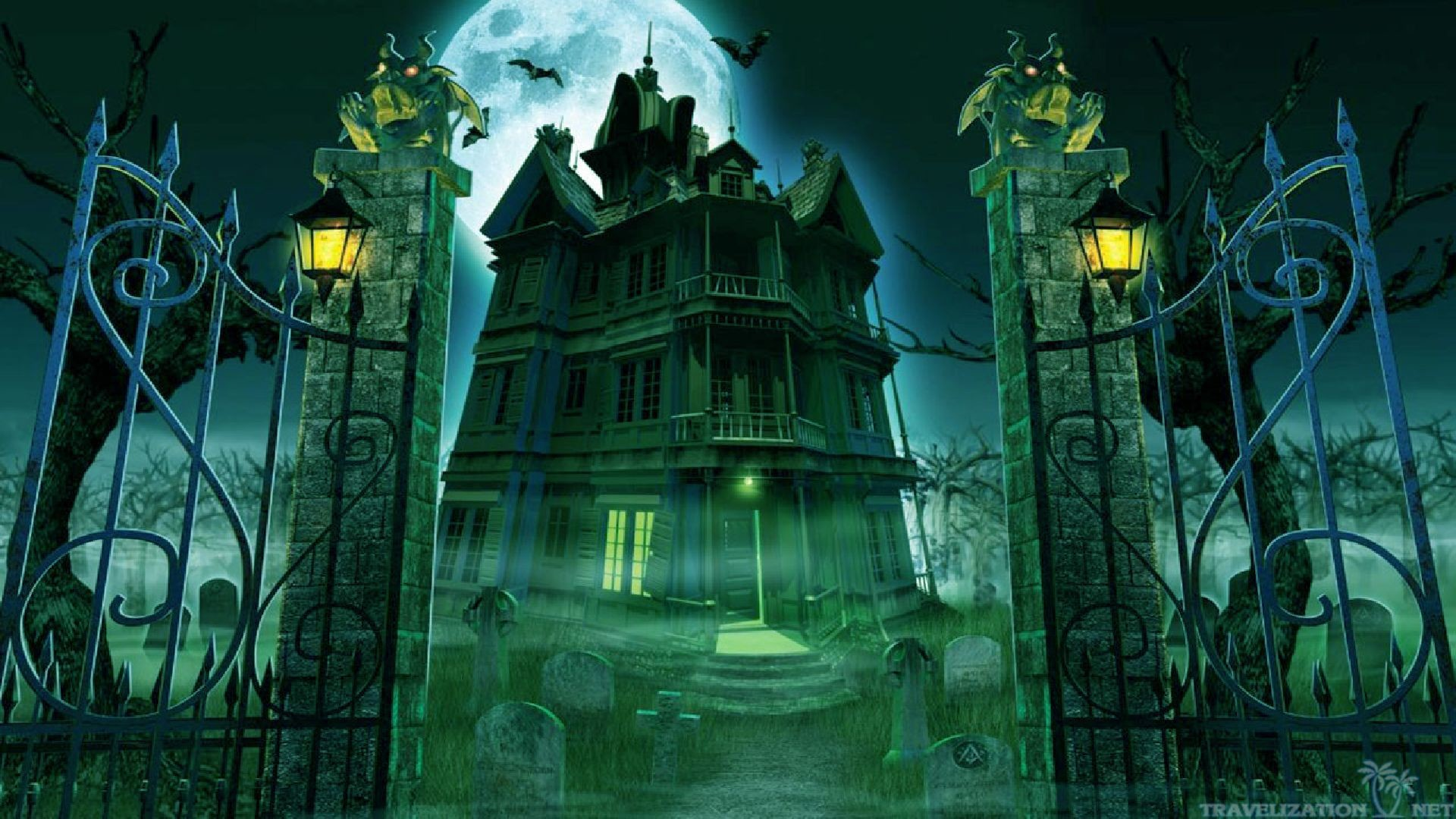Creepy graveyard wallpaper 64 images - Scary halloween screensavers animated ...