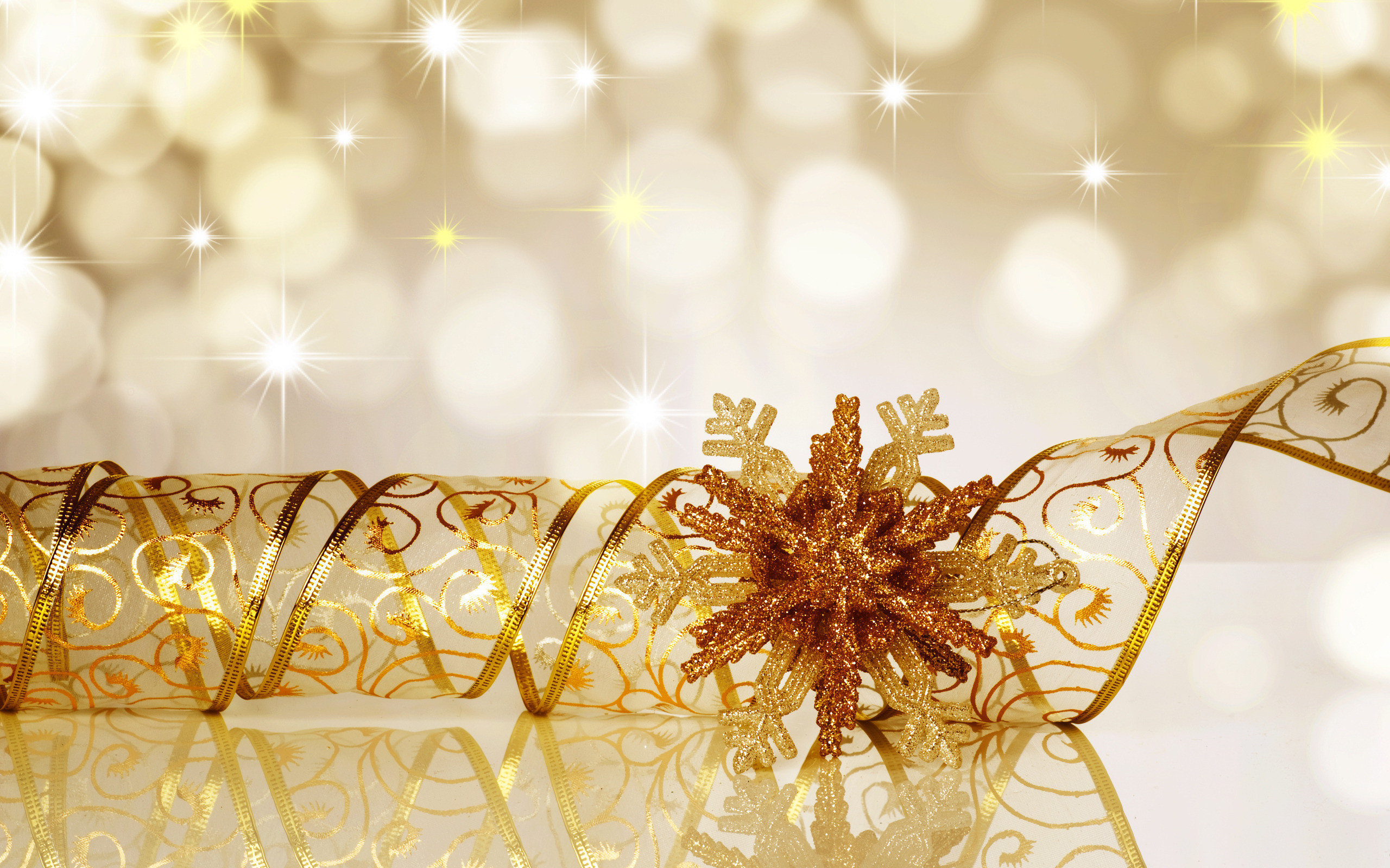 2560x1600 Gold Holiday Wallpaper ...