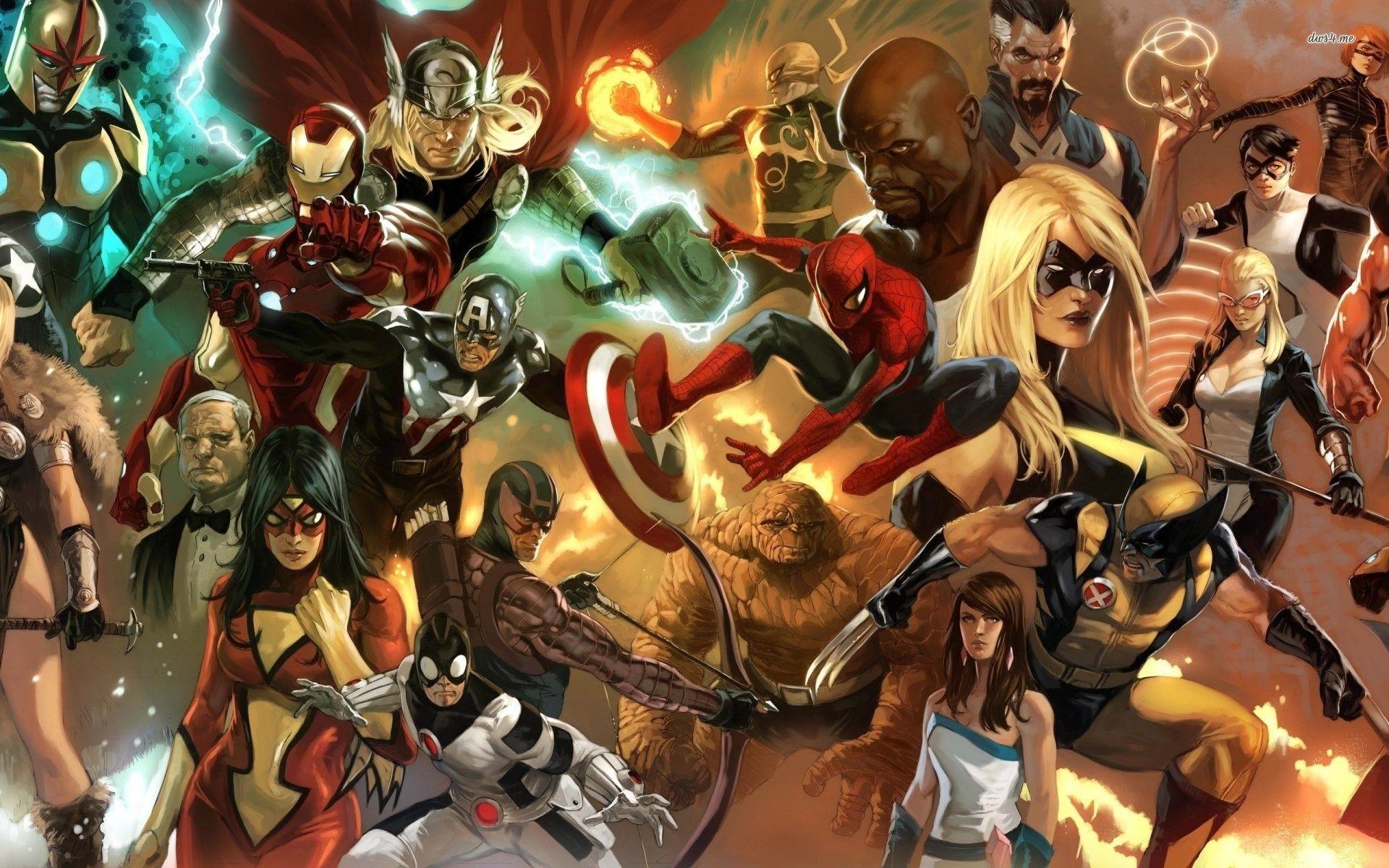 1920x1080 Marvel Superheroes Wallpaper Hd