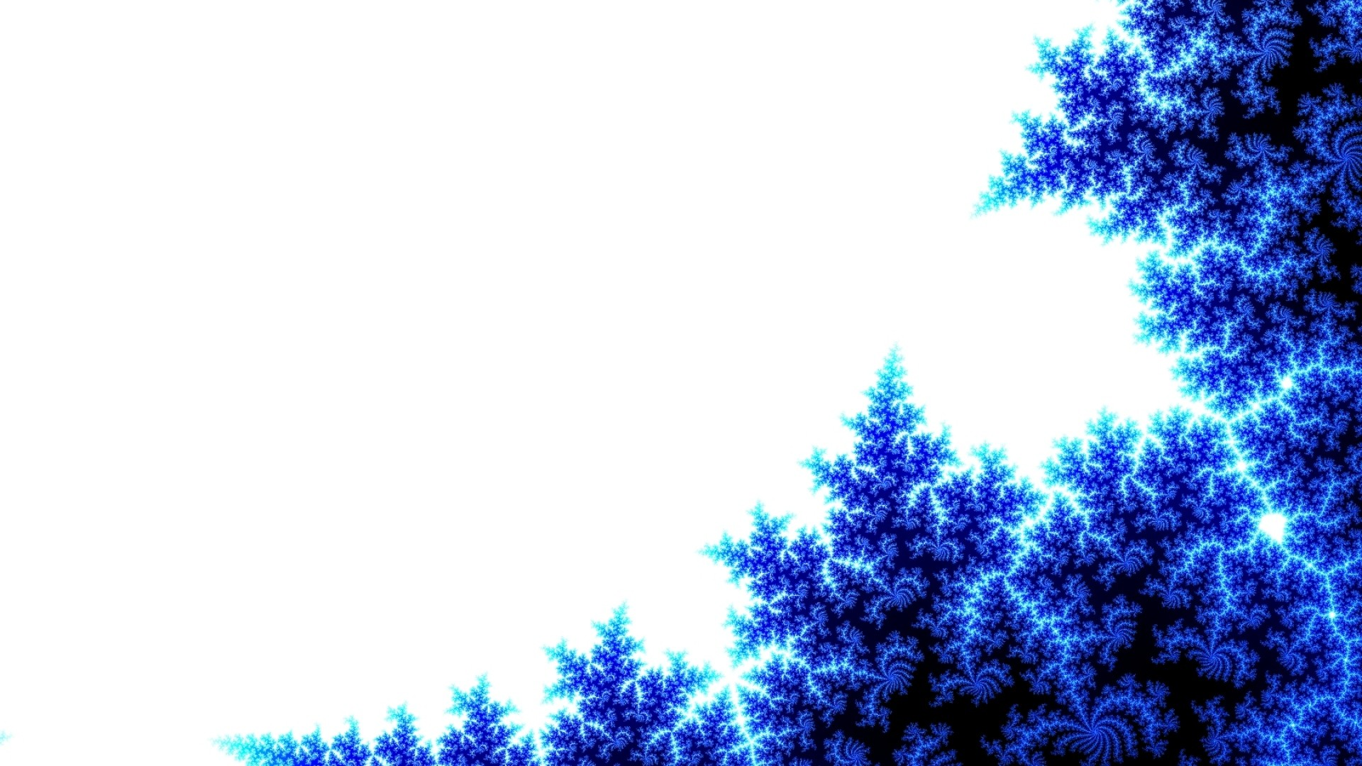 1920x1080  Wallpaper abstract, blue, tree, white