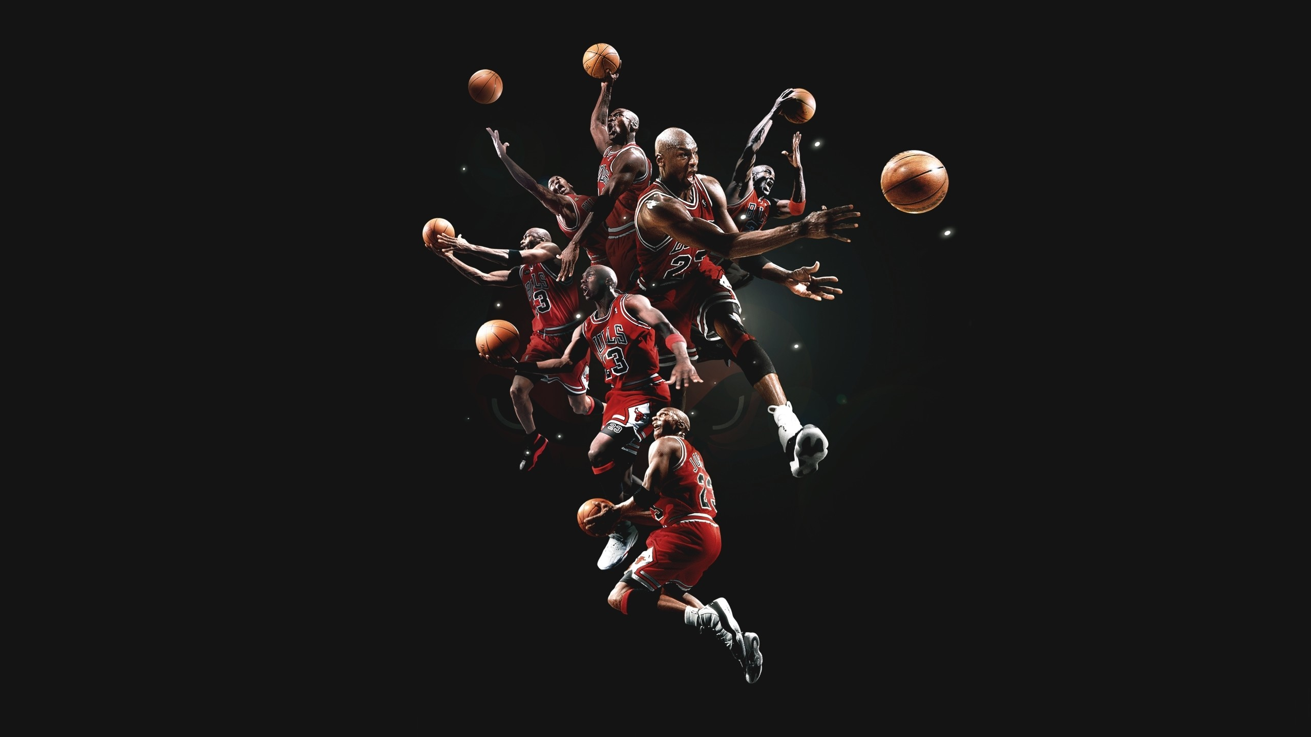 2560x1440 Michael jordan basketball chicago bulls men males action stop motion. Bulls  Wallpaper ...