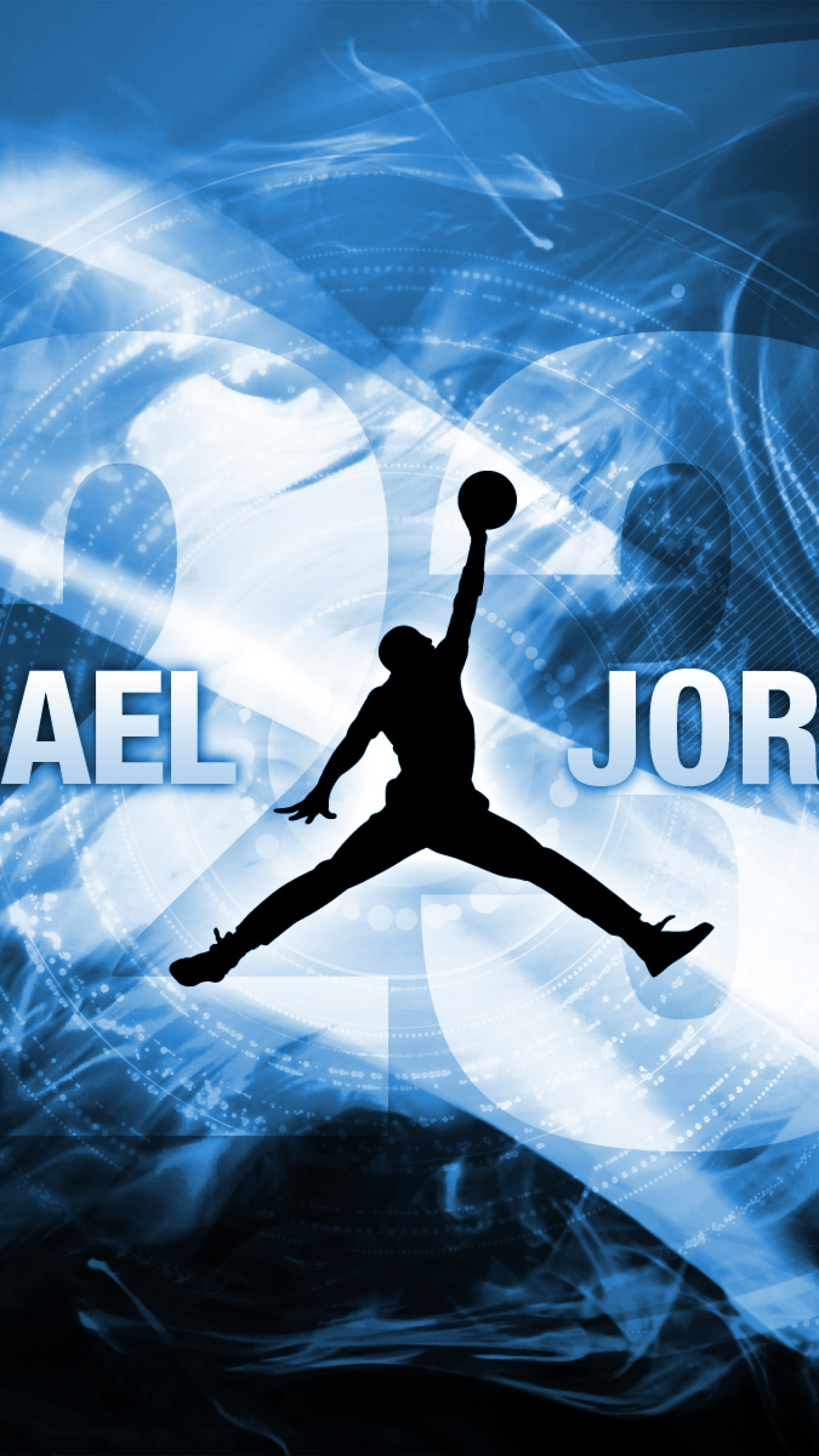 1440x2560  Wallpaper michael jordan, basketball, logo, sport