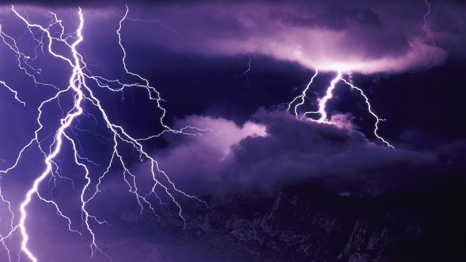 1920x1080 Lightning Storm Wallpaper HD Free.