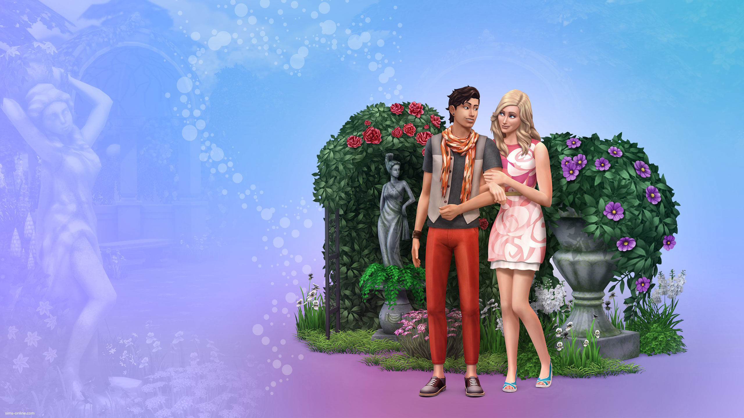 2560x1440 The Sims 4 Romantic Garden Stuff Wallpaper