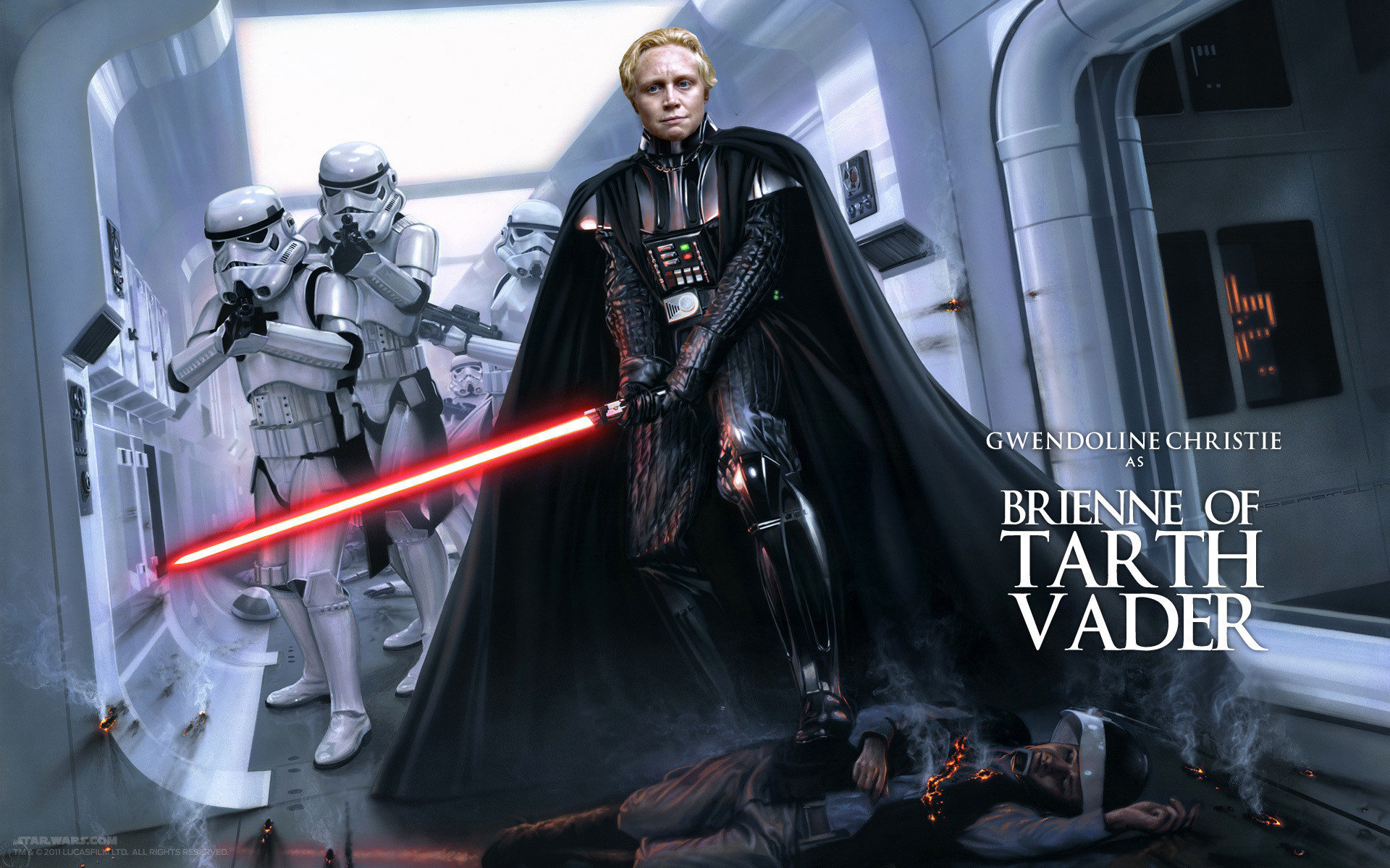 1920x1200 Gwendoline Christie it was my first tought to be honest.