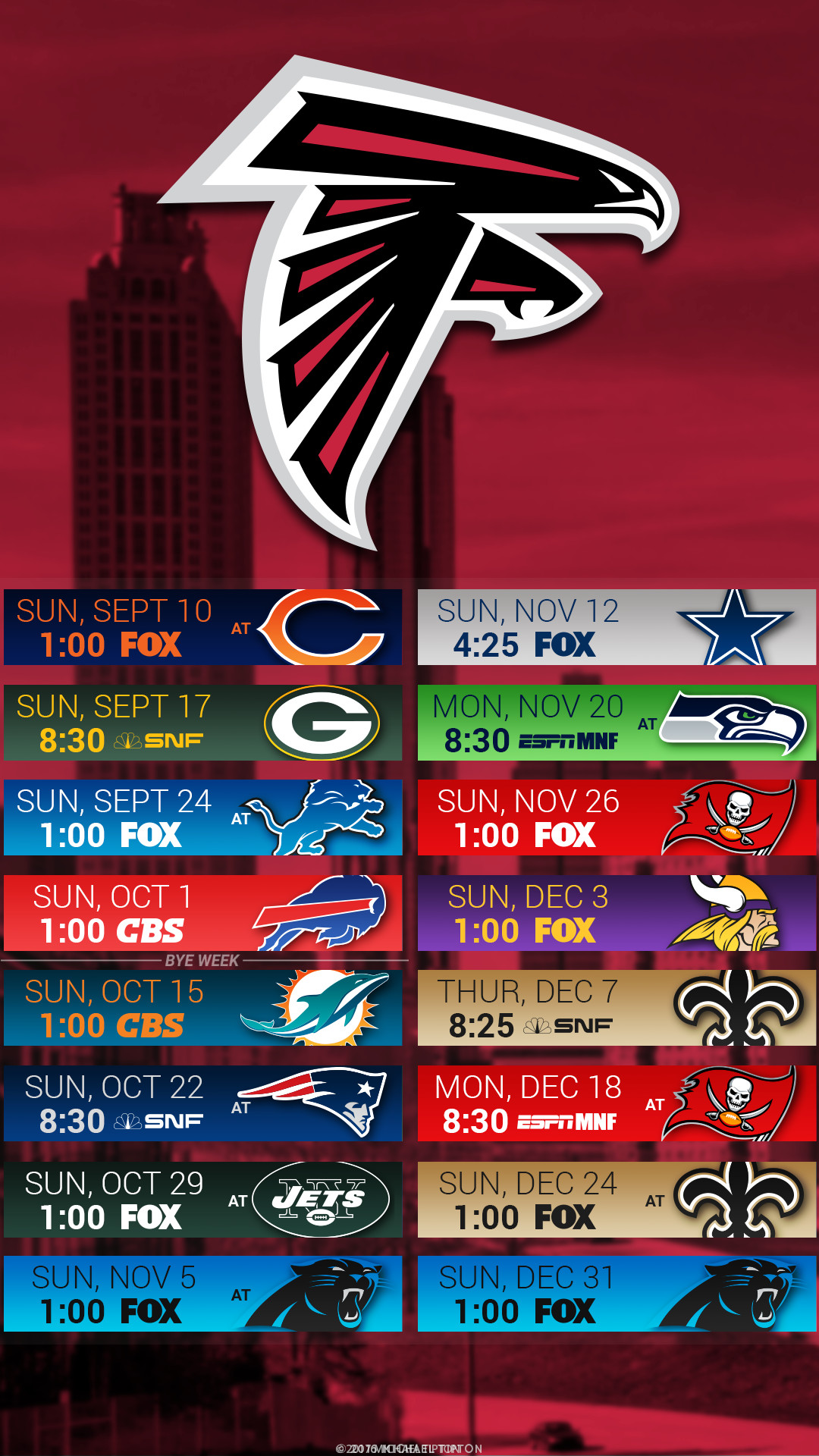 1080x1920 Atlanta Falcons 2017 Schedule Turf Logo Wallpaper Free Iphone 5 6 7