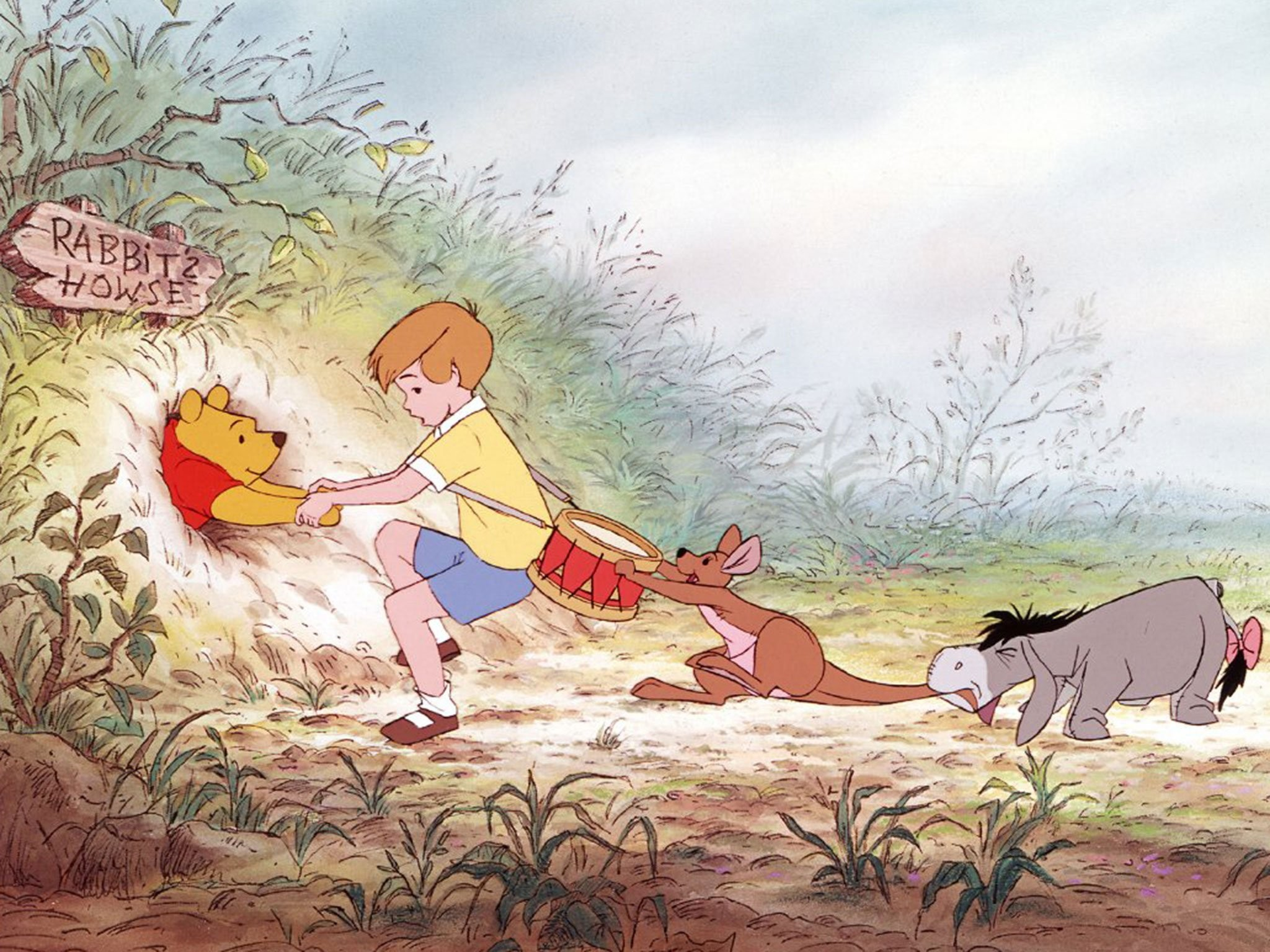 2048x1536 Christopher Robin with Winnie the Pooh ...