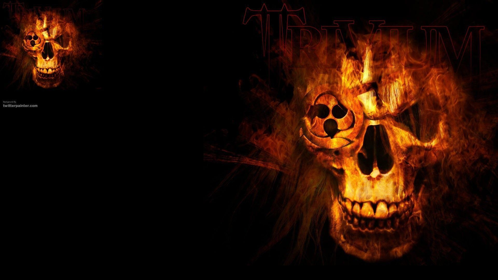 1920x1080 Wallpapers For > Red Fire Skull Wallpaper