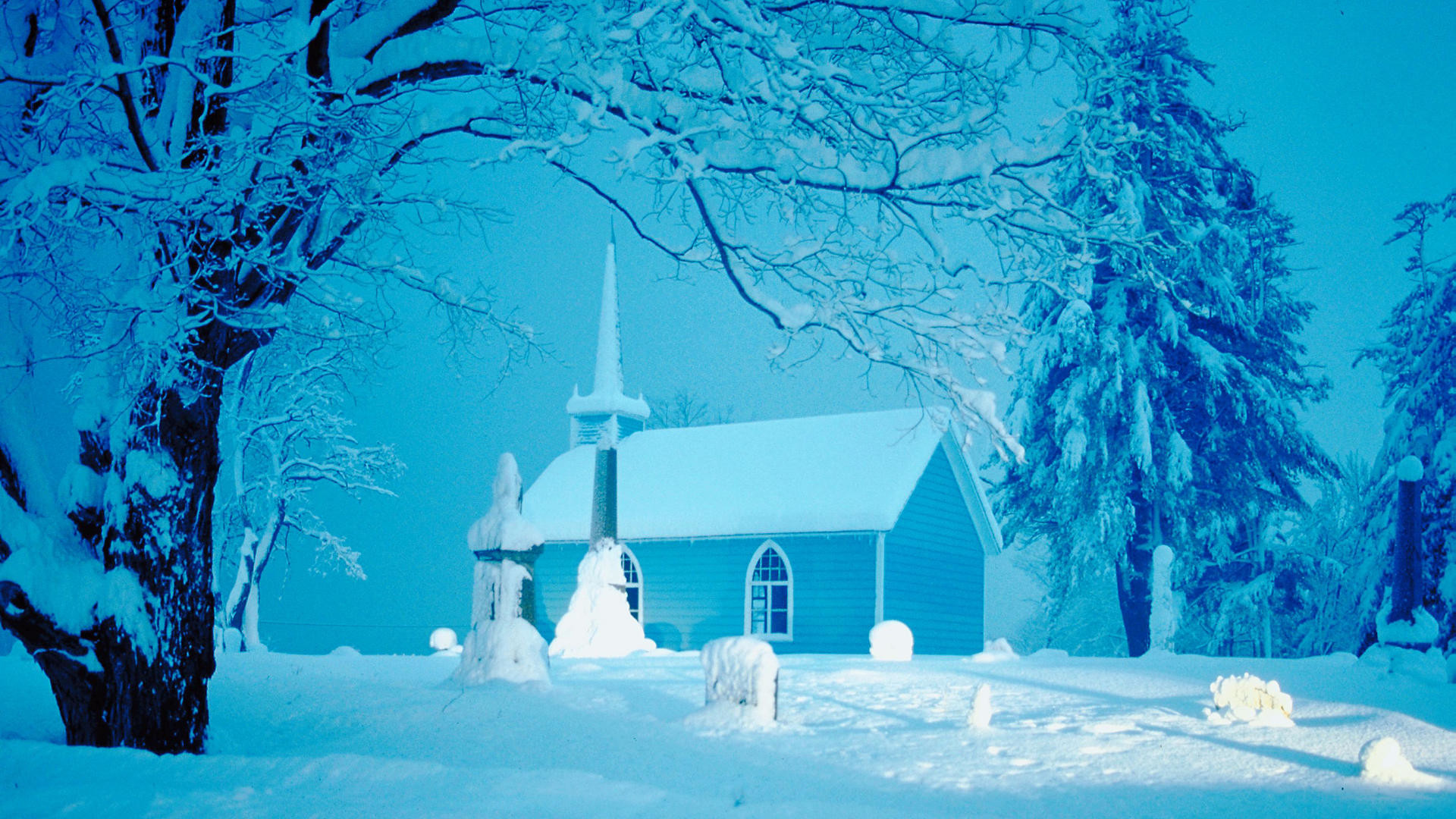 Christmas winter scenes wallpaper 47 images for Christmas landscape images