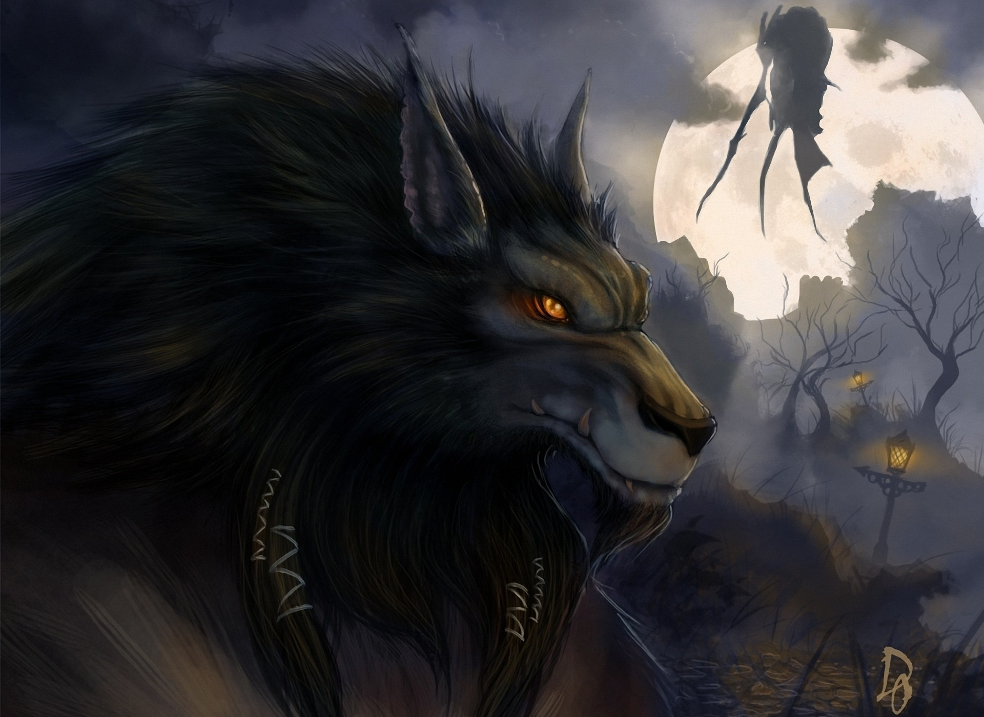 1920x1399 Video Game World Of Warcraft Werewolf Halloween Dark Horror Wallpaper