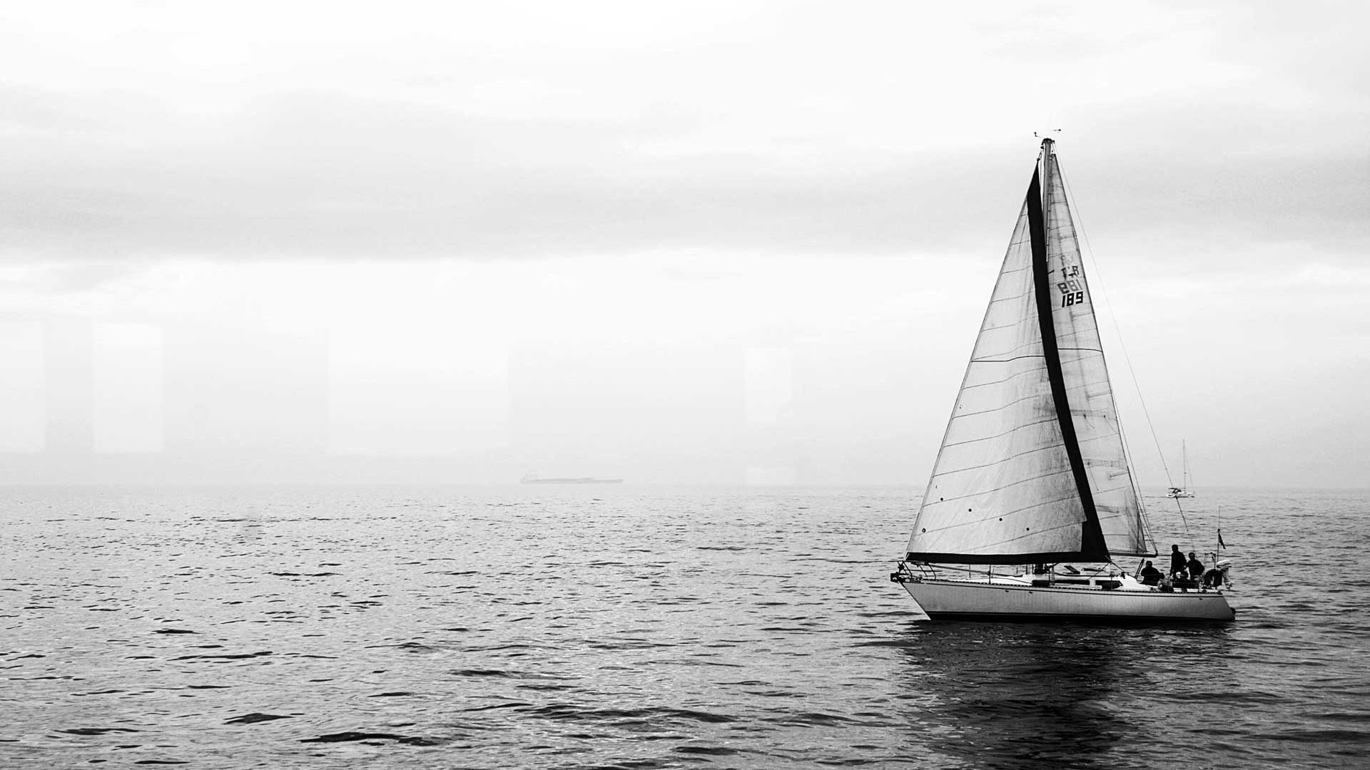 1920x1080  Grey sky and sea sailing desktop backgrounds wide wallpapers :1280x800,1440x900,1680x1050