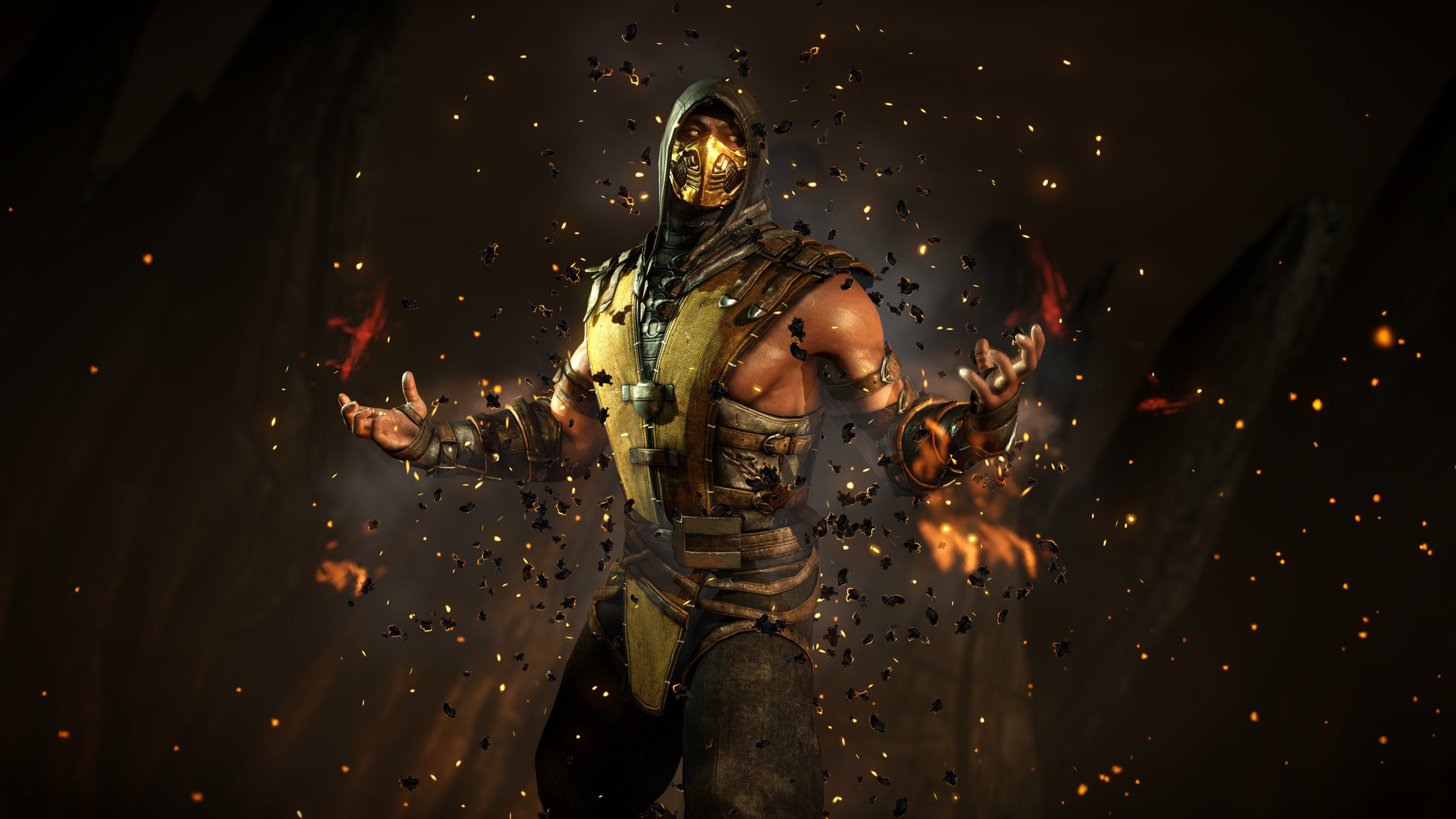 3840x2160 Mortal Kombat Scorpion Wallpaper