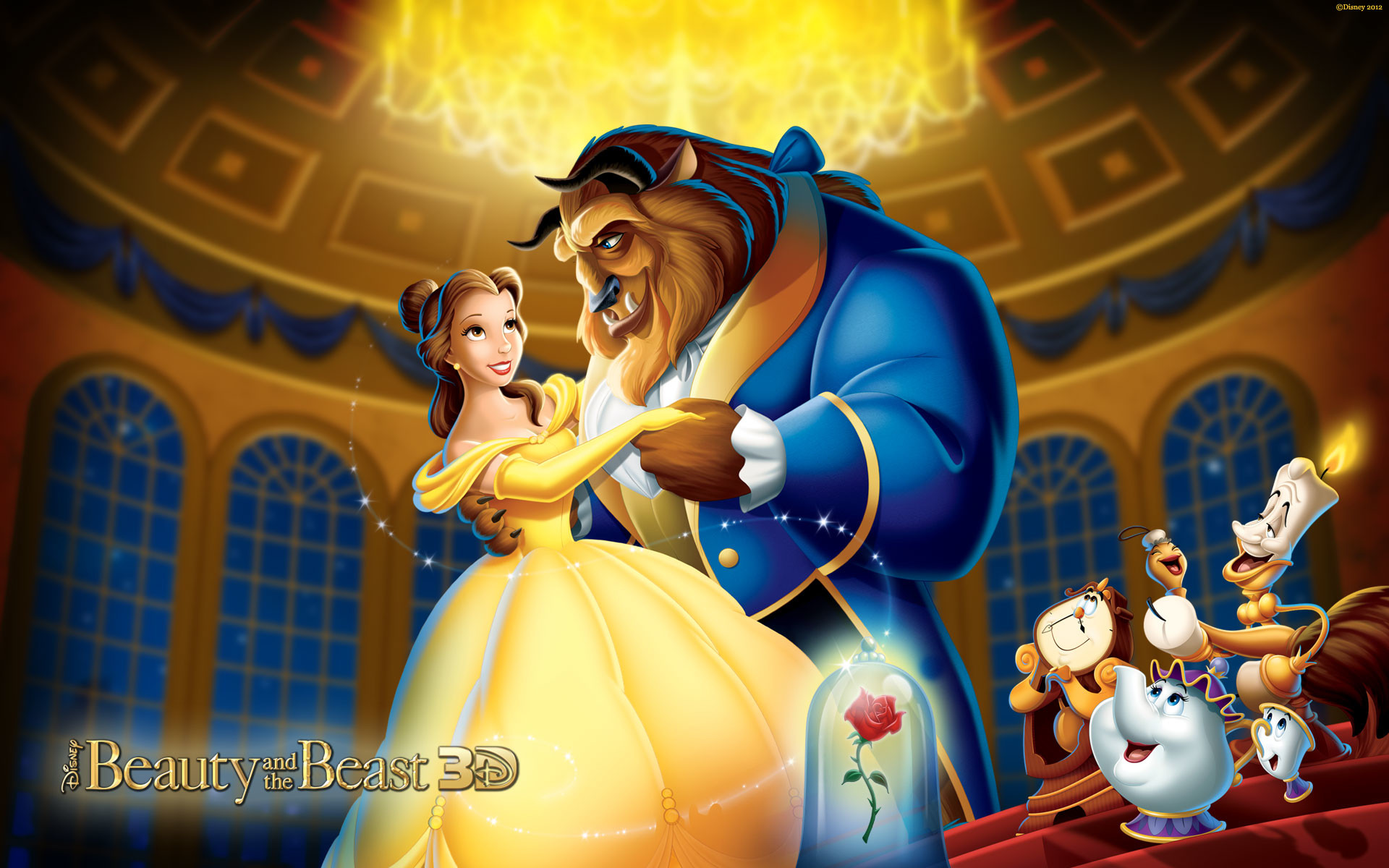 Beauty And The Beast Cartoon Wallpaper: Beauty And The Beast Wallpaper (79+ Images