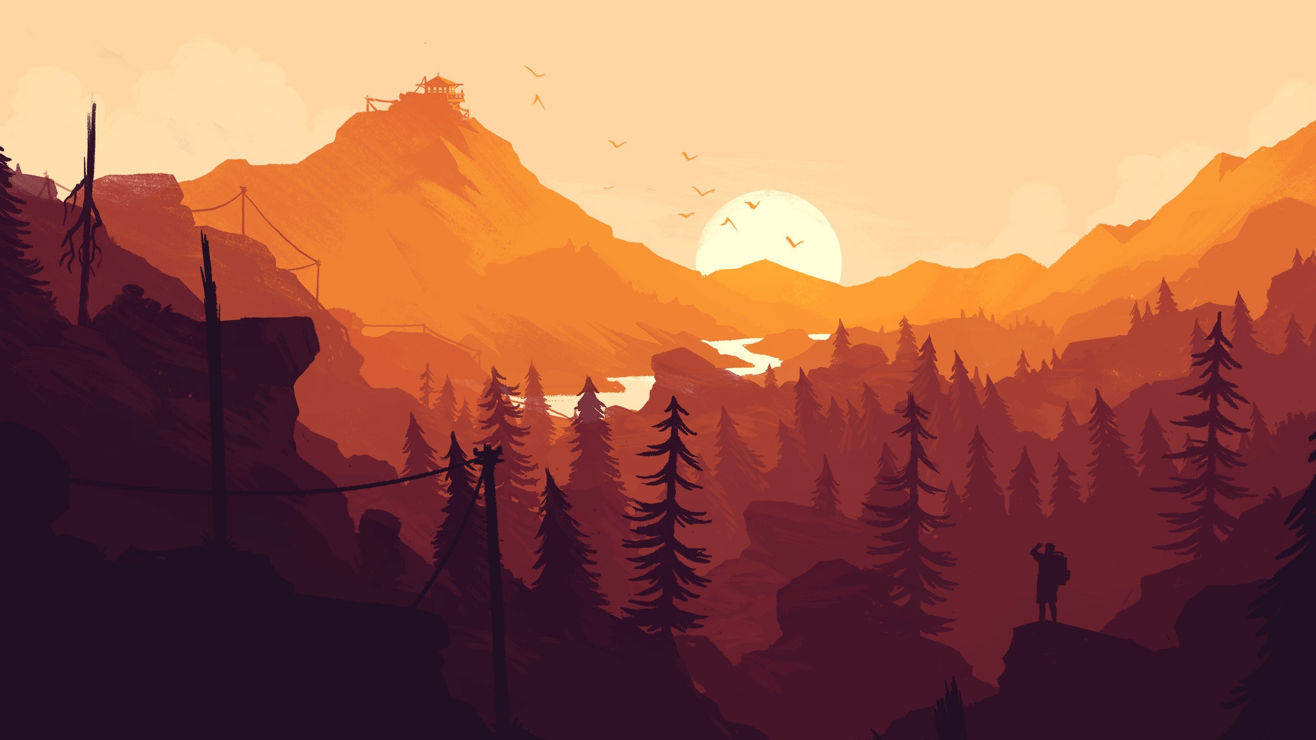 2560x1440 Firewatch Game (1024x768 Resolution)