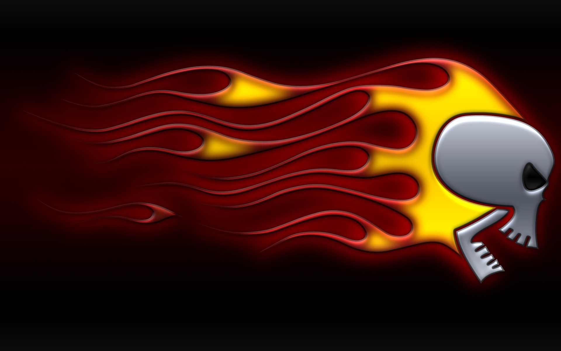 1920x1200 Skull On Fire Wallpaper Abstract 3D Wallpapers