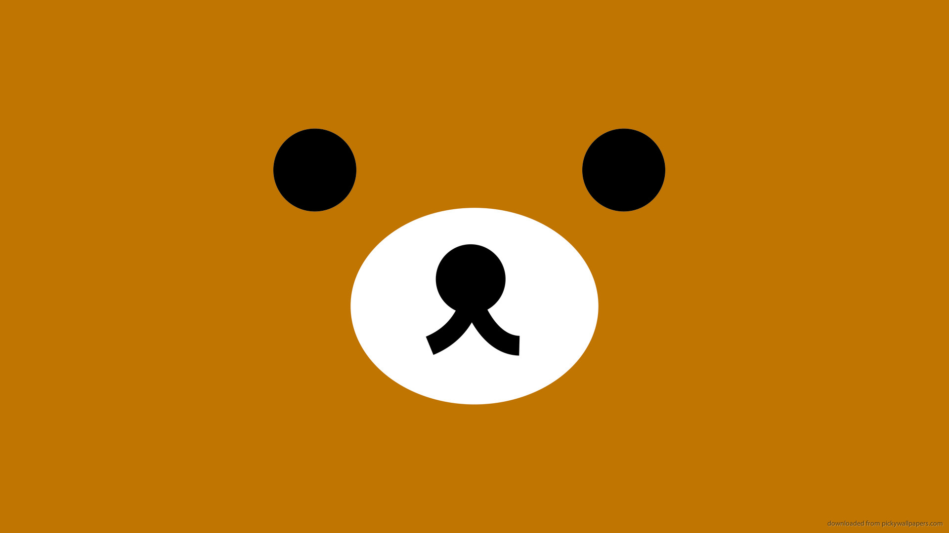 1920x1080 1366x768 Rilakkuma Brown Face wallpaper