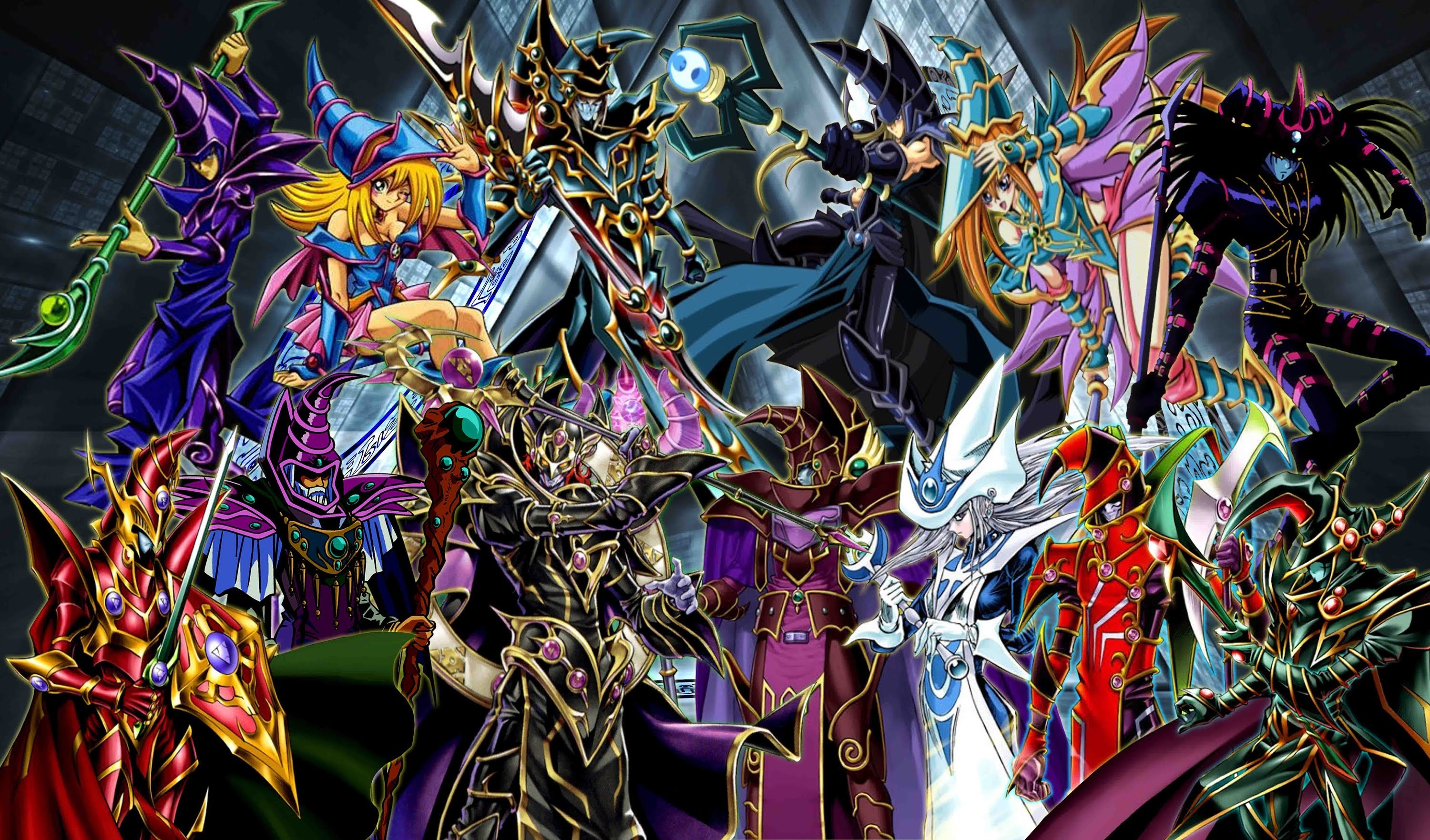 3000x1763 Yugioh Dark MagicianSpellcaster Deck January 2014