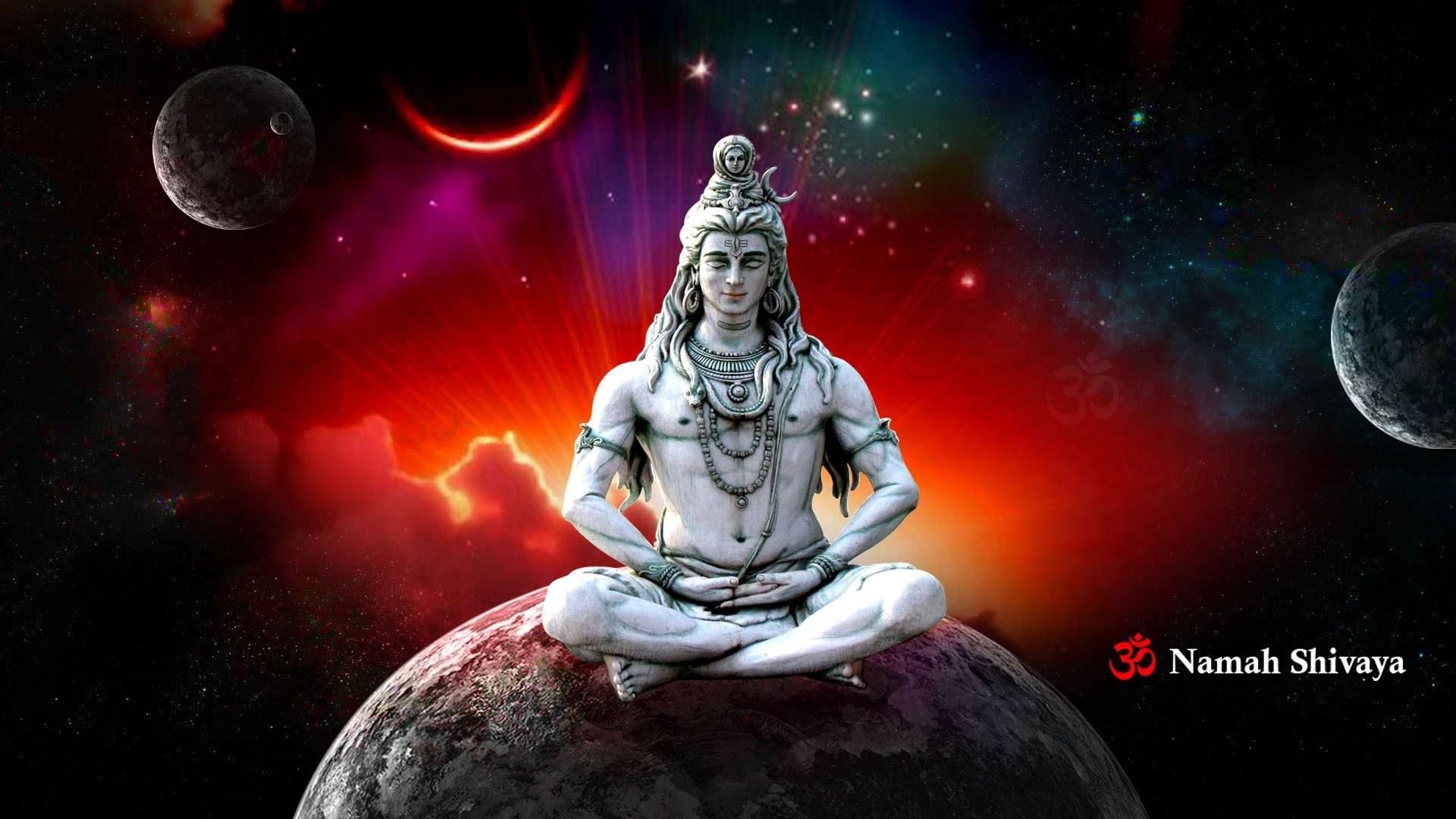1920x1080 Lord shiva in rudra avatar animated wallpapers