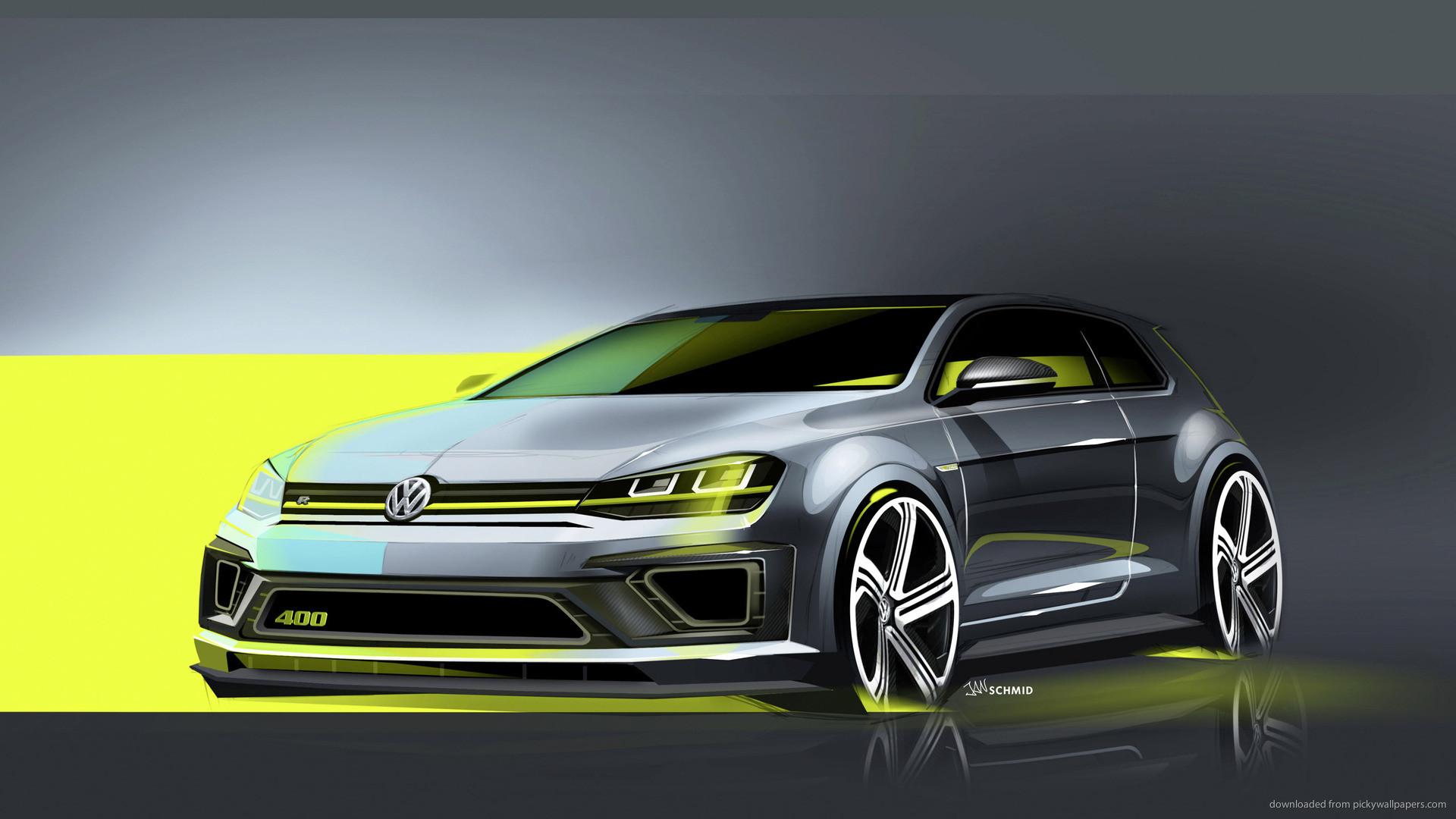 1920x1080 Volkswagen Golf R 400 Concept Car For