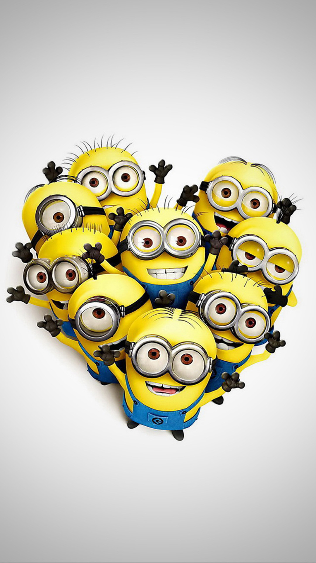 1080x1920 Funny Minions in Heart Shape HD Wallpaper iPhone 6 plus