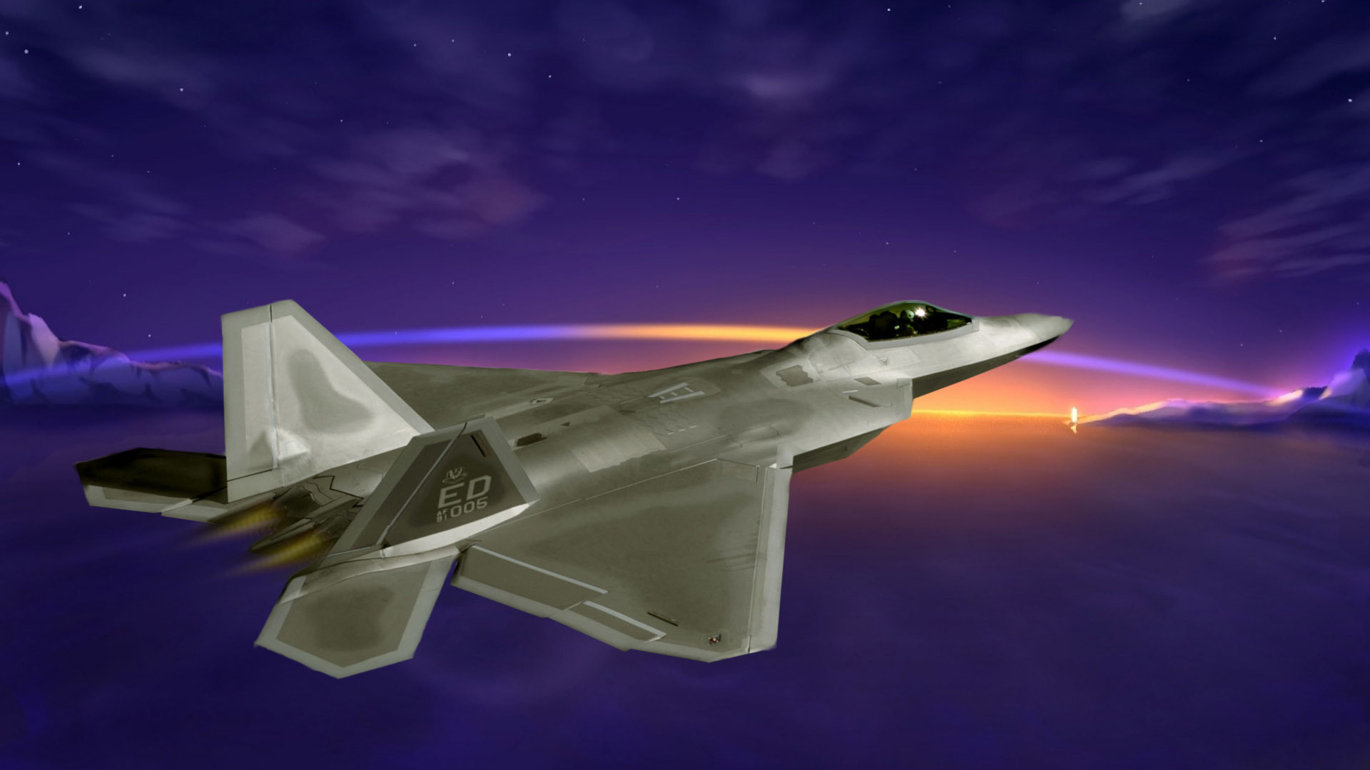 1920x1080 Lockheed Martin F-22 Raptor HD Wallpaper