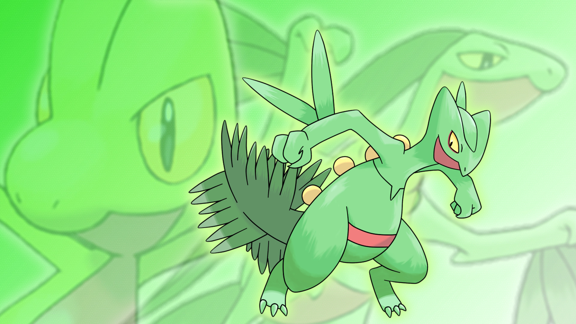 1920x1080 ... Grovyle, and Sceptile Wallpaper by Glench