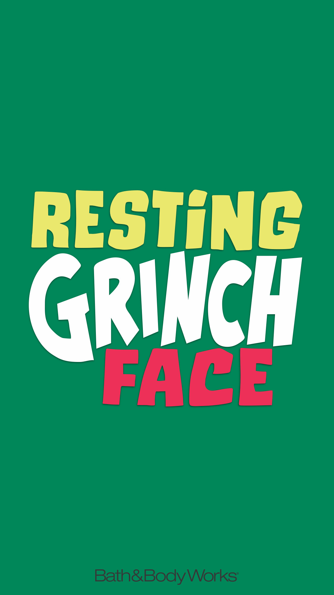 1080x1920 Bath & Body Works iPhone Wallpaper Resting Grinch Face