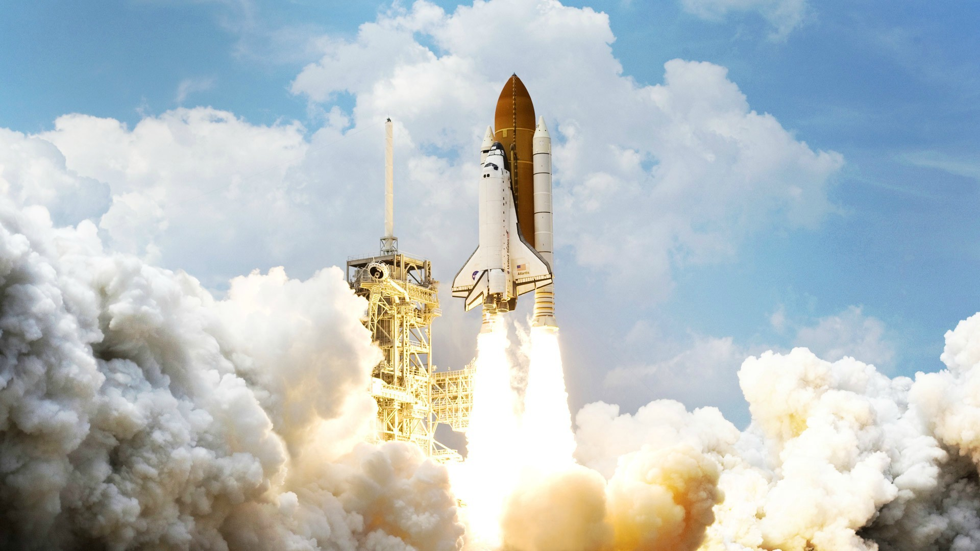 1920x1080 Space Shuttle HD Wallpaper - WallpaperSafari Beautiful Space Shuttle Launch  HD desktop wallpaper : High .