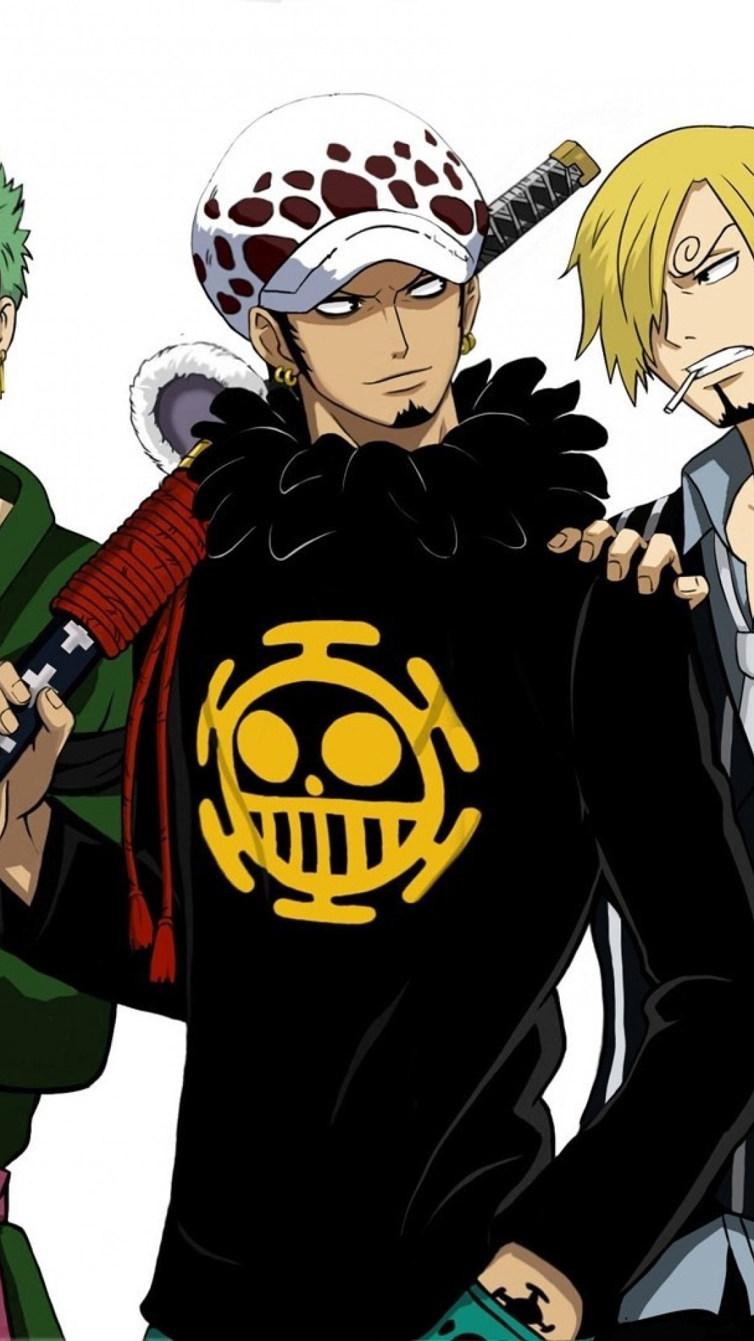 1080x1920 HD Wallpaper One Piece Zoro,Law and Sanji - iPhone 6 Plus. Download · HD Wallpaper  One Piece ...