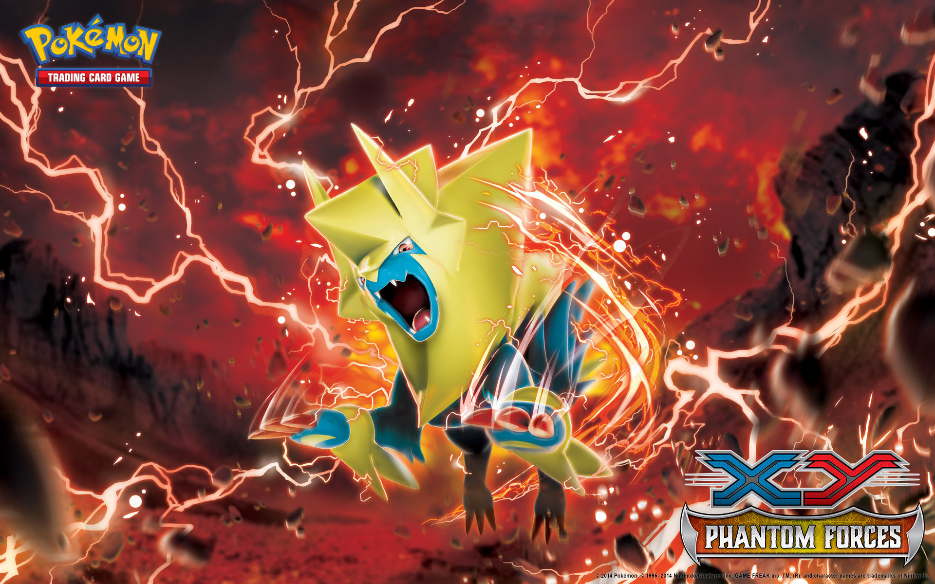 1920x1200 Pokémon TCG: <em>XY—Phantom Forces</em> Manectric Wallpaper