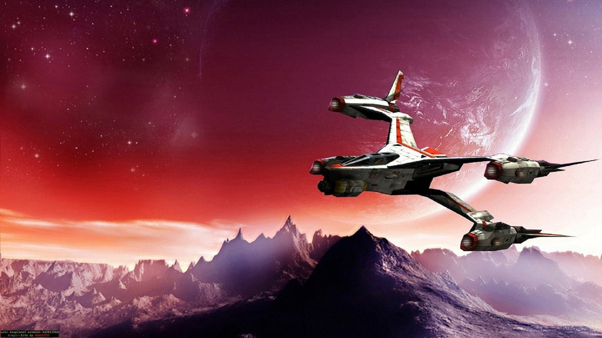 1920x1080 TV Show - Babylon 5 Ship Planet Moon Wallpaper