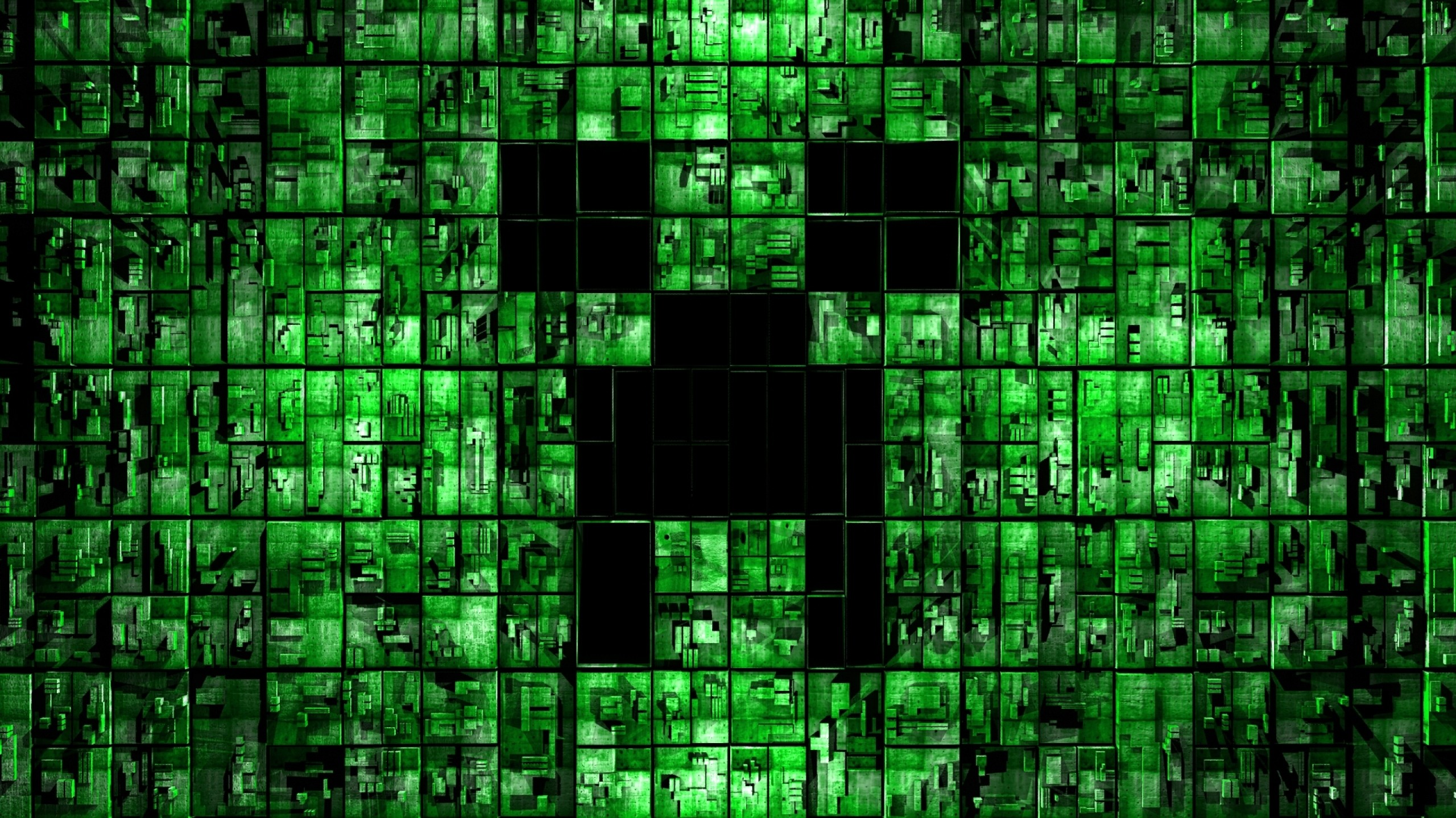 2560x1440 Preview wallpaper minecraft, backgroung, green