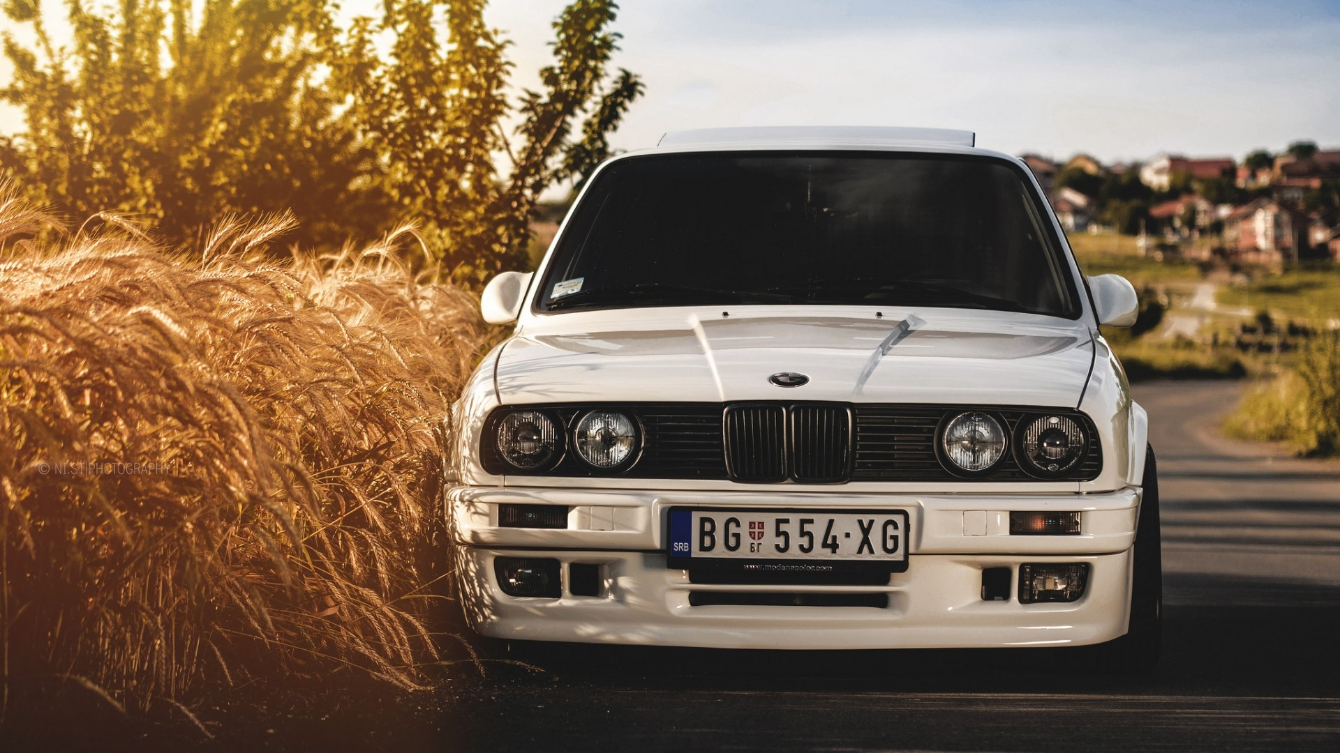 1920x1080 Preview wallpaper bmw, 325i, e30, white, auto