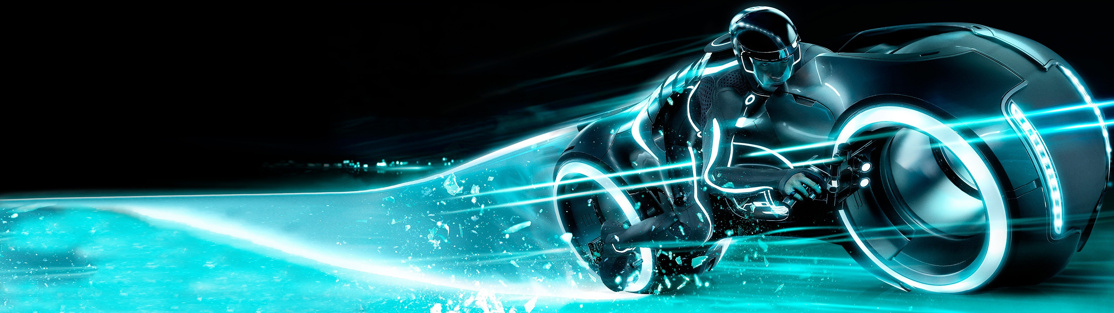 3840x1080 Tron Legacy TRON Wallpaper thestockmasters | HD Wallpapers | Pinterest |  Tron light cycle, Cycling and Wallpaper
