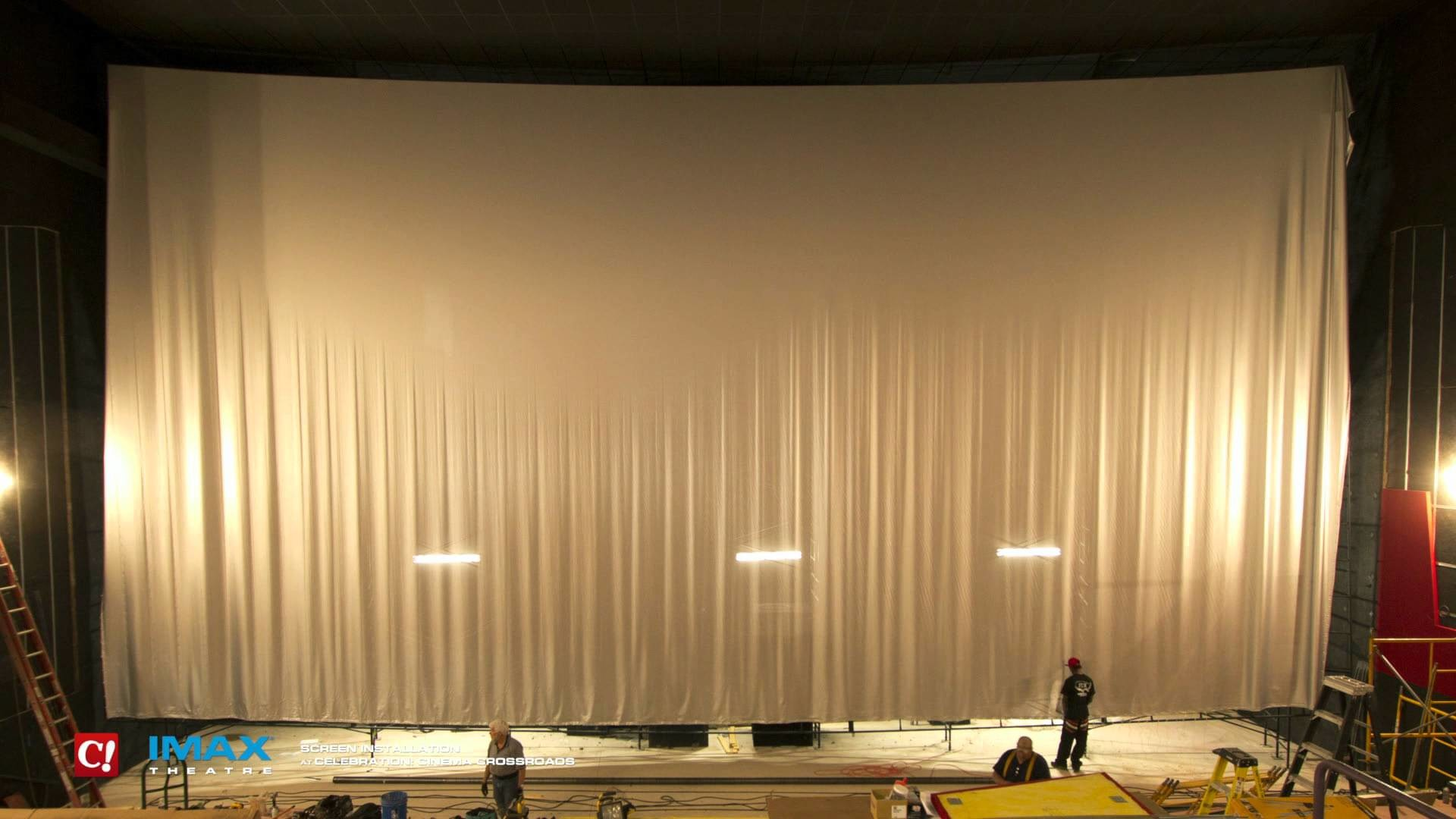 1920x1080 IMAX Screen Installation Timelapse at Celebration! Cinema Crossroads -  YouTube