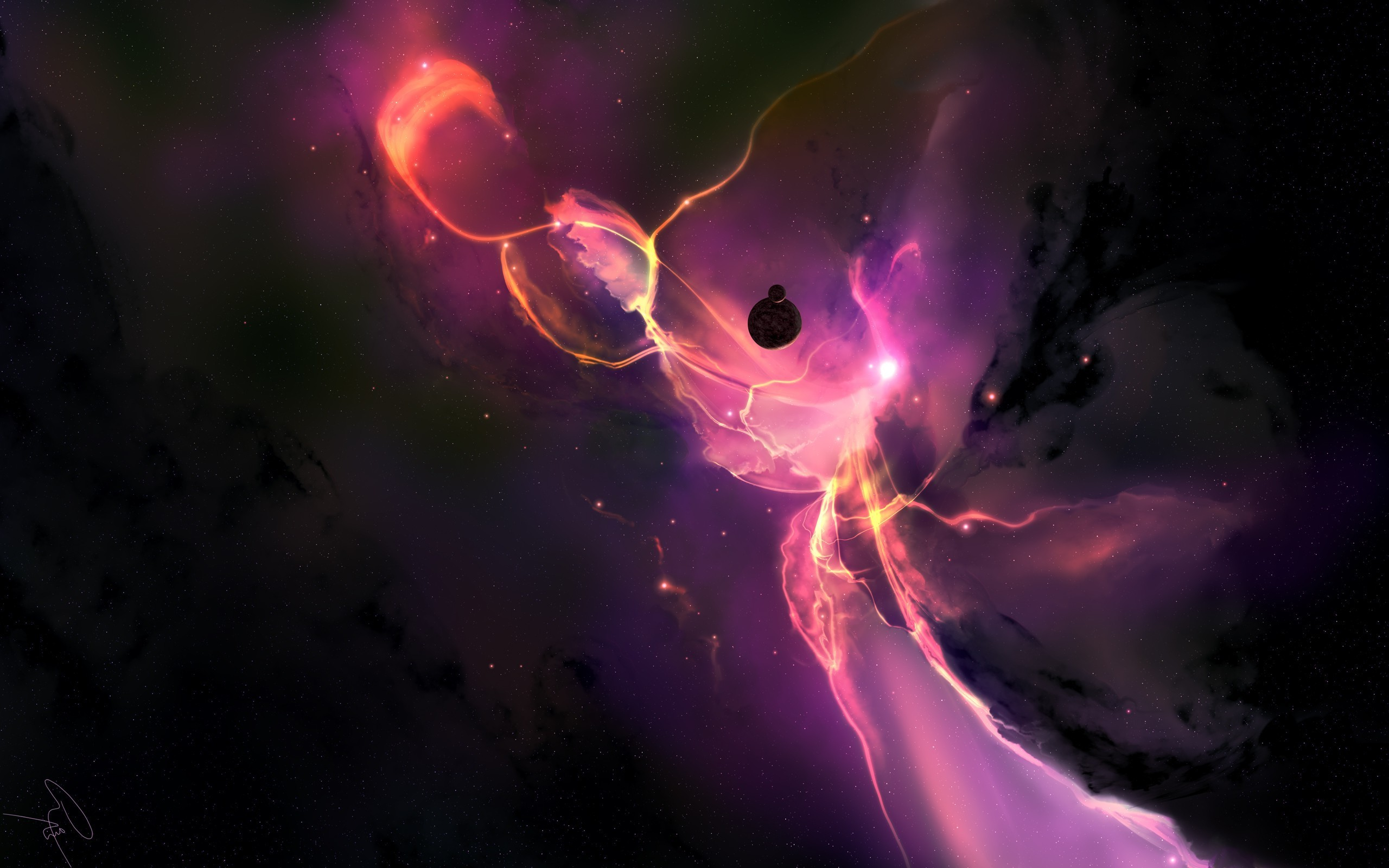 2560x1600 Joey Jazz, Space, Render, Galaxy, Purple Wallpapers HD / Desktop and Mobile  Backgrounds