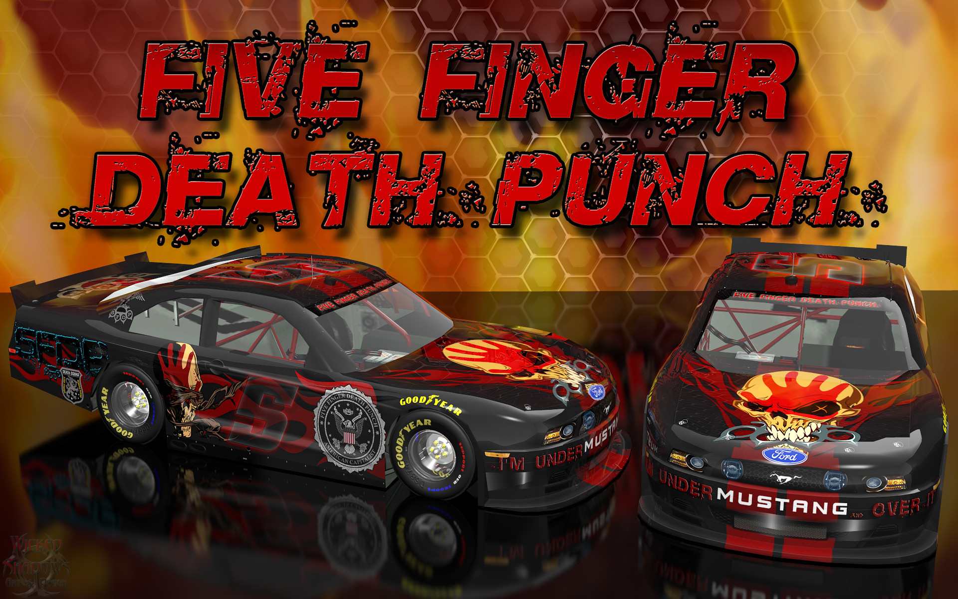 1920x1200 Five Finger Death Punch Wicked Ford Mustang Wallpaper