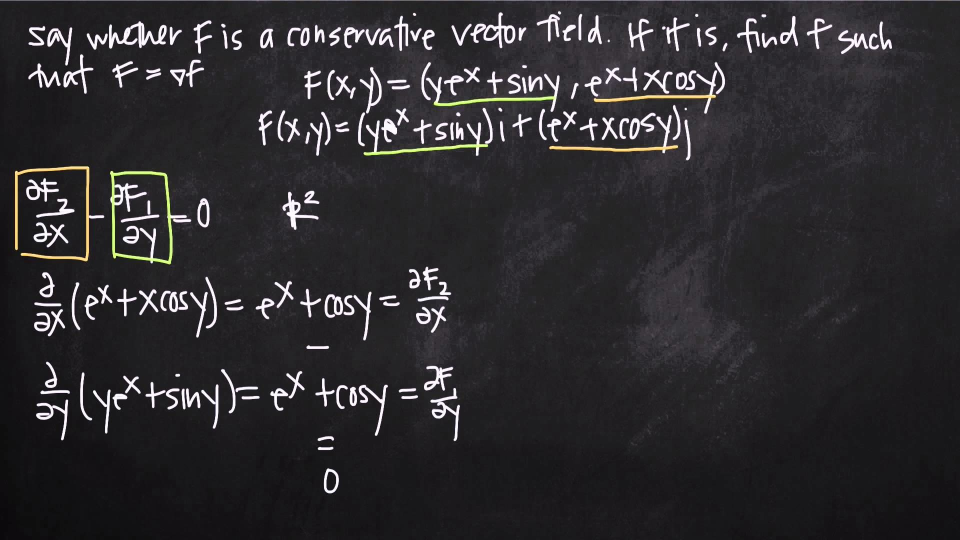 1920x1080 potential function of a conservative vector field (KristaKingMath) - YouTube