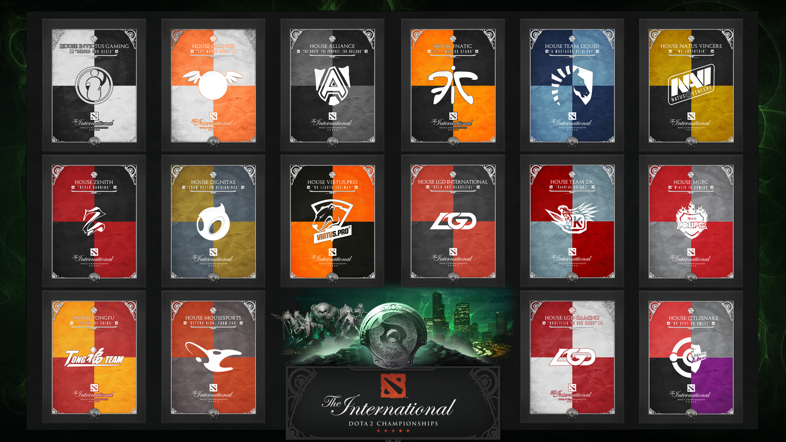 2560x1440 The International 3 Banners (Teams)