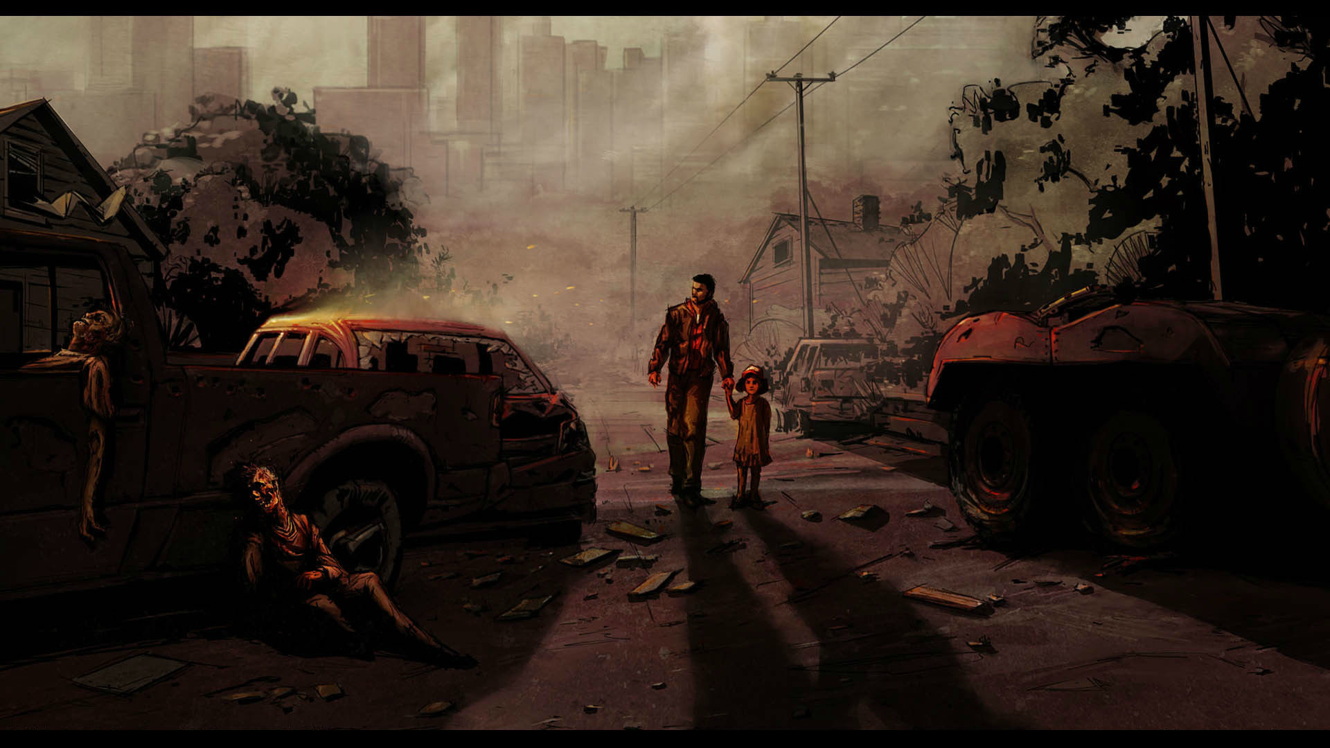 the walking dead game wallpaper (83+ images)