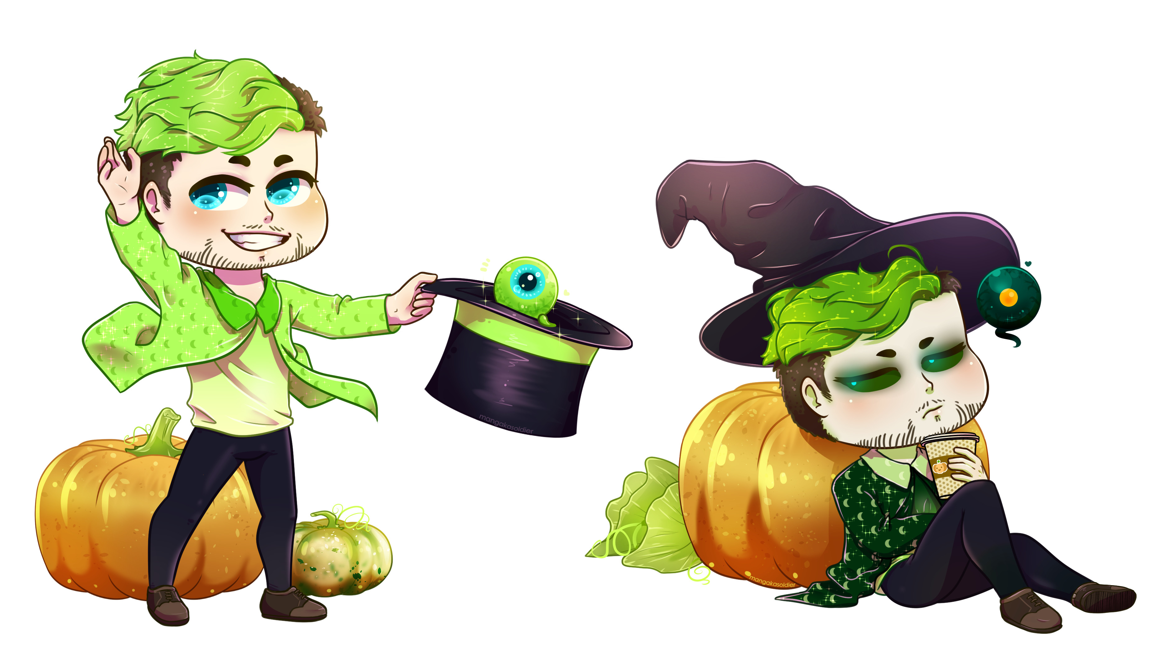 3780x2126 ... Team pumpkin - jacksepticeye and antisepticeye by mangakasoldier