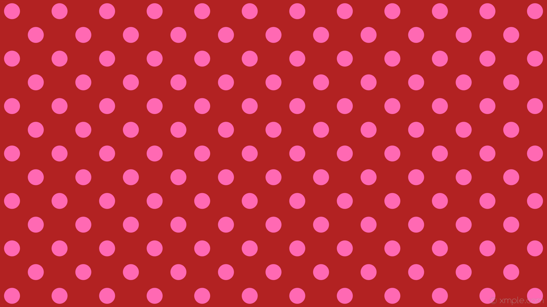 1920x1080 wallpaper pink polka dots spots red fire brick hot pink #b22222 #ff69b4 225°