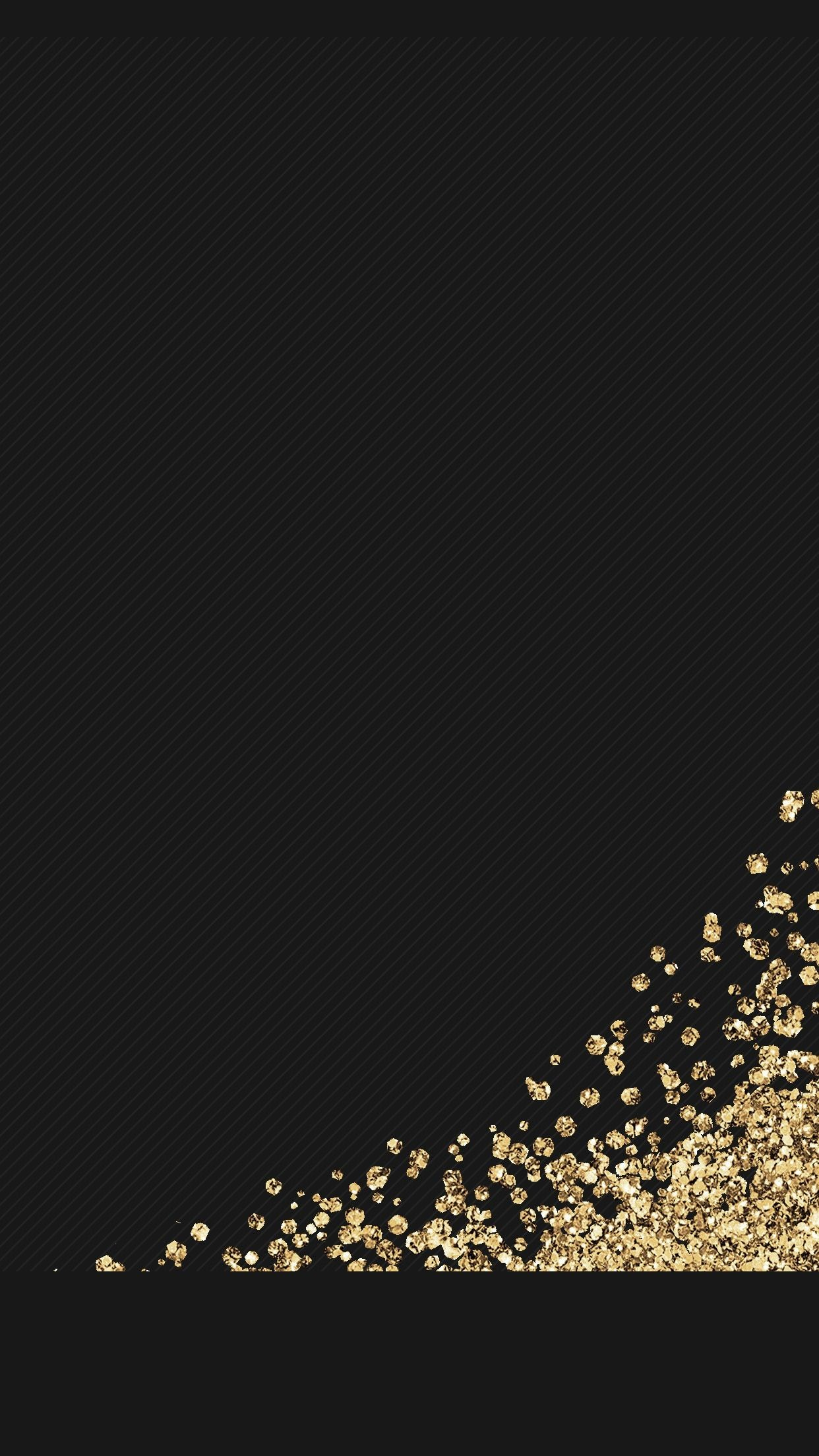 1242x2208 black, gold, glitter, wallpaper, background, iphone, android, HD